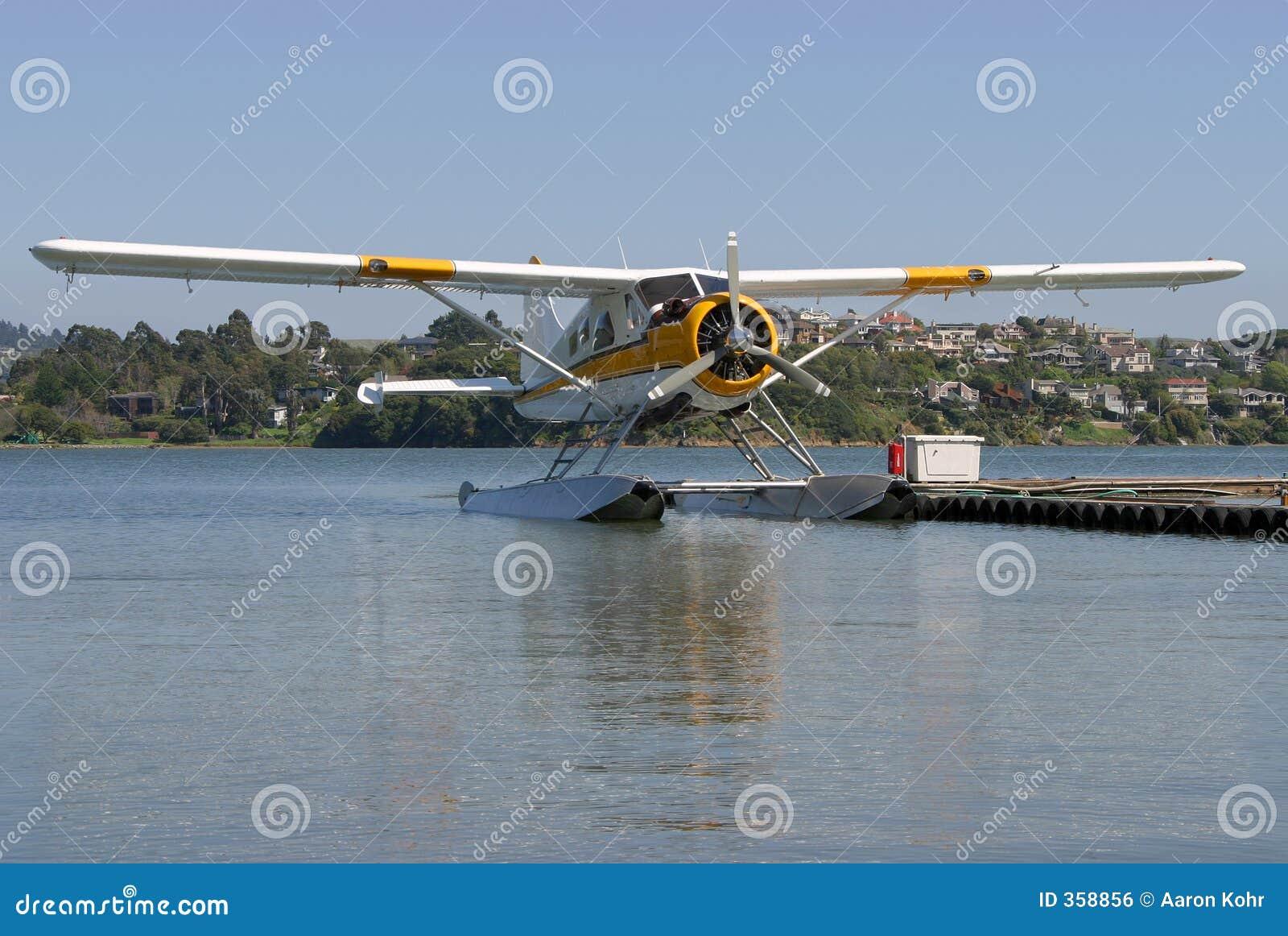 1架水上飞机 免版税库存图片