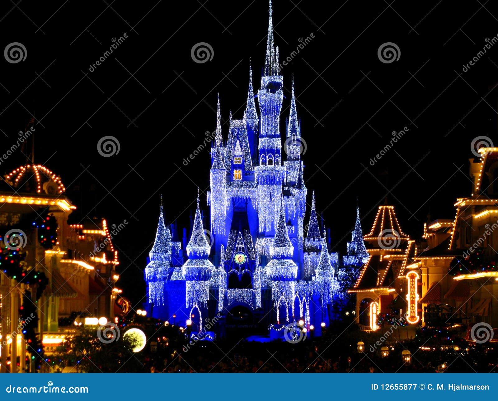 1个城堡disneyworld王国点燃魔术
