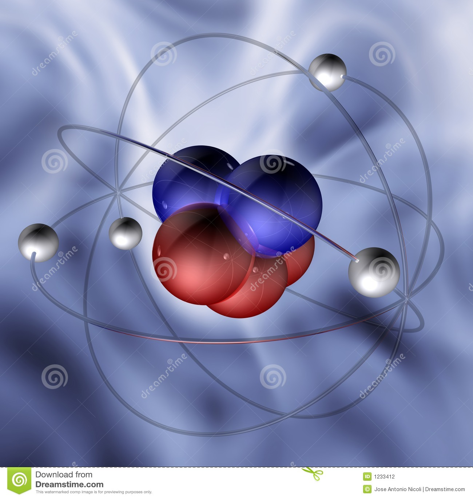 1 μόριο ατόμων