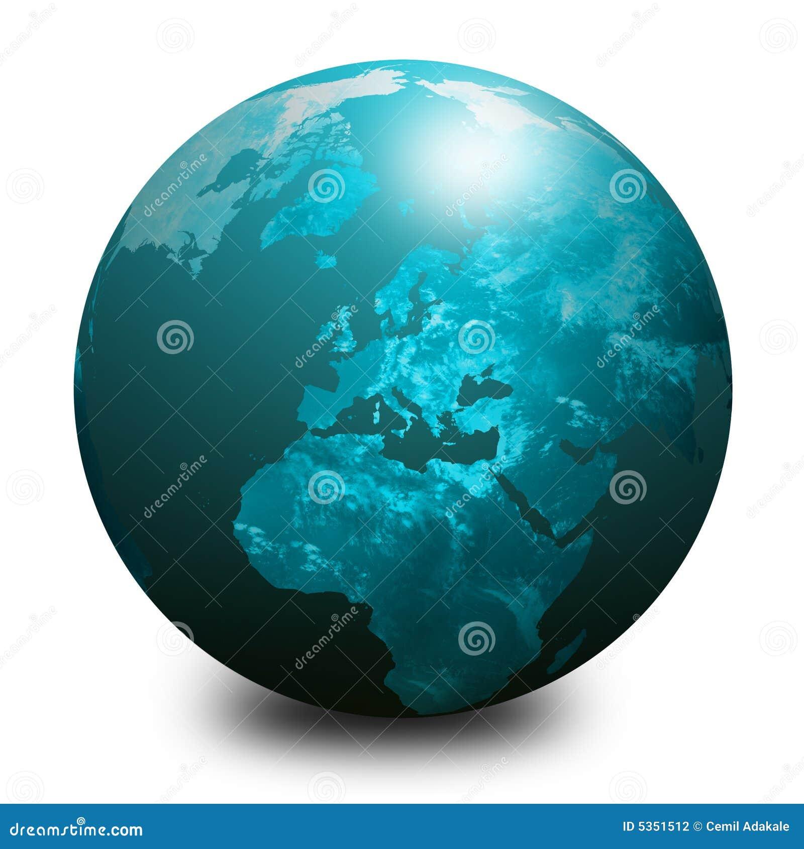 1 голубой мир глобуса