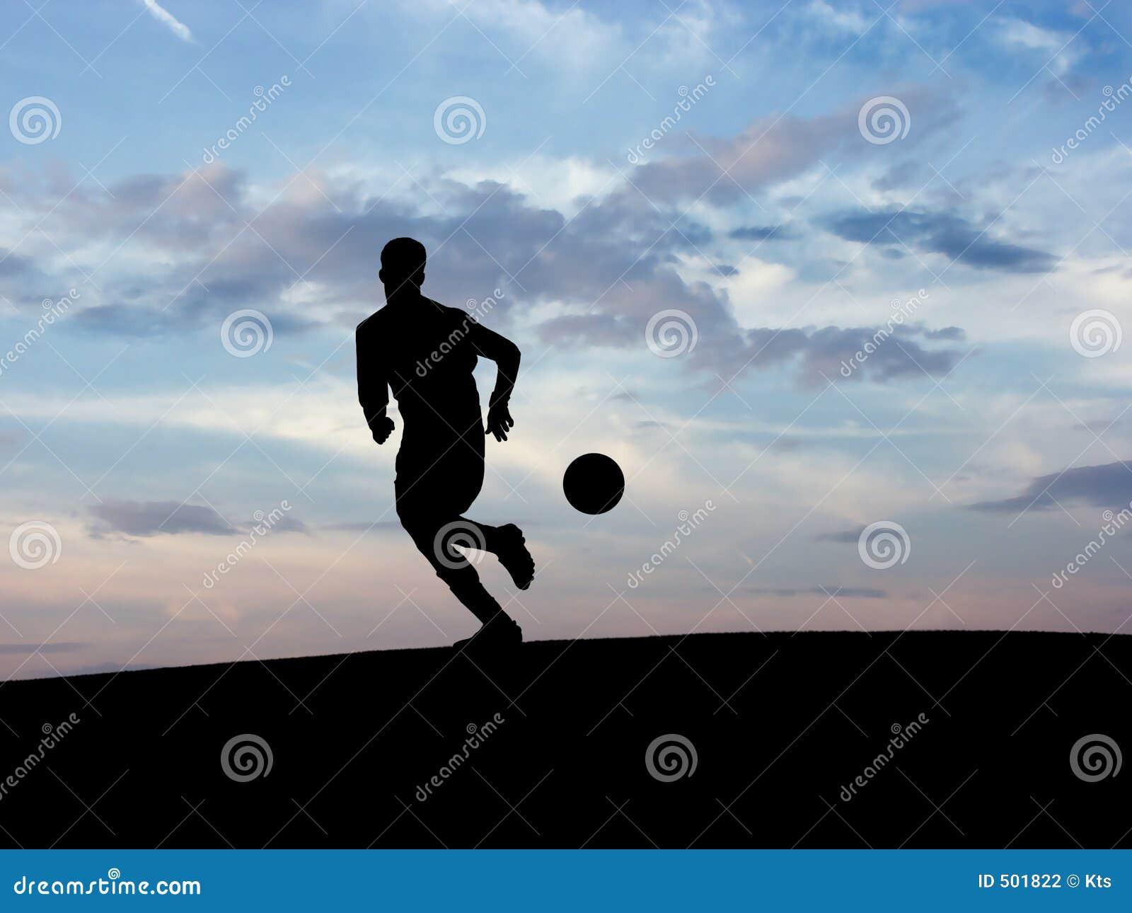 1 футбол силуэта