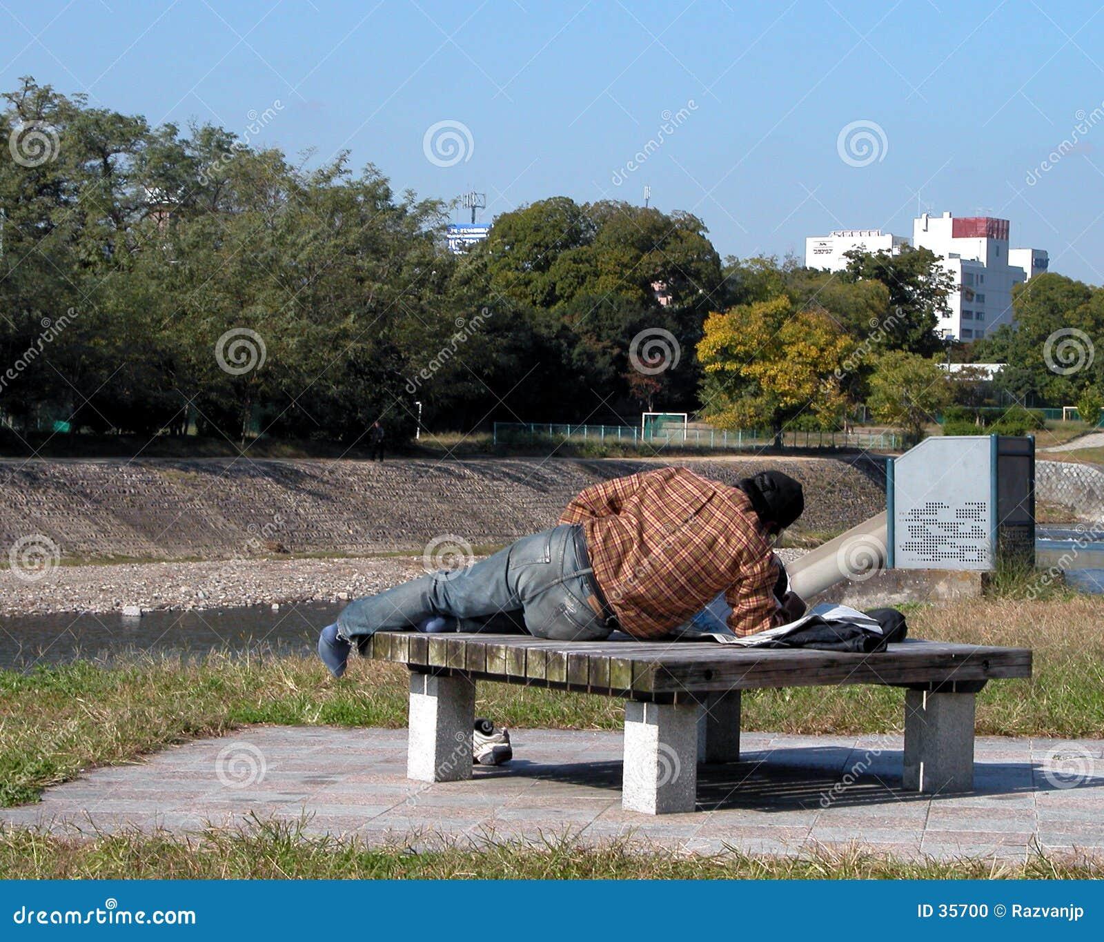 1个无家可归者