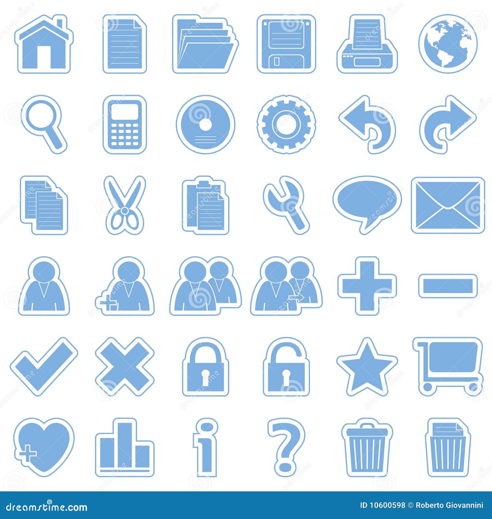 (1) błękit ikon majcherów sieć