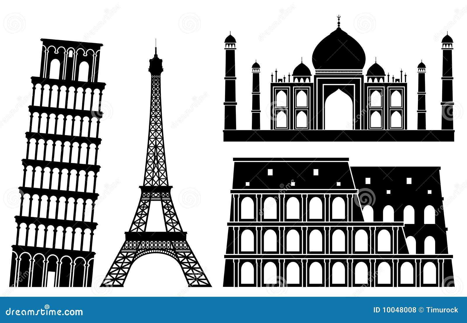 1 berömda set värld för illustrationställen s