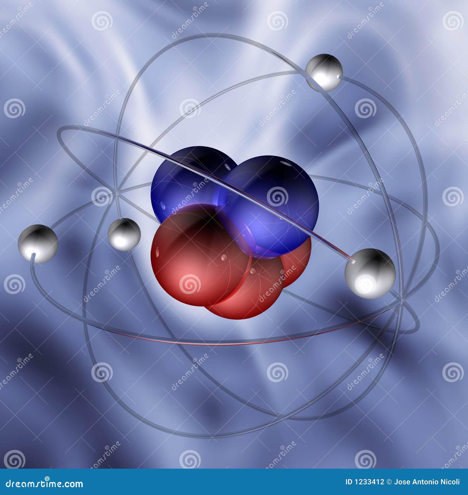 1 cząsteczki atomu