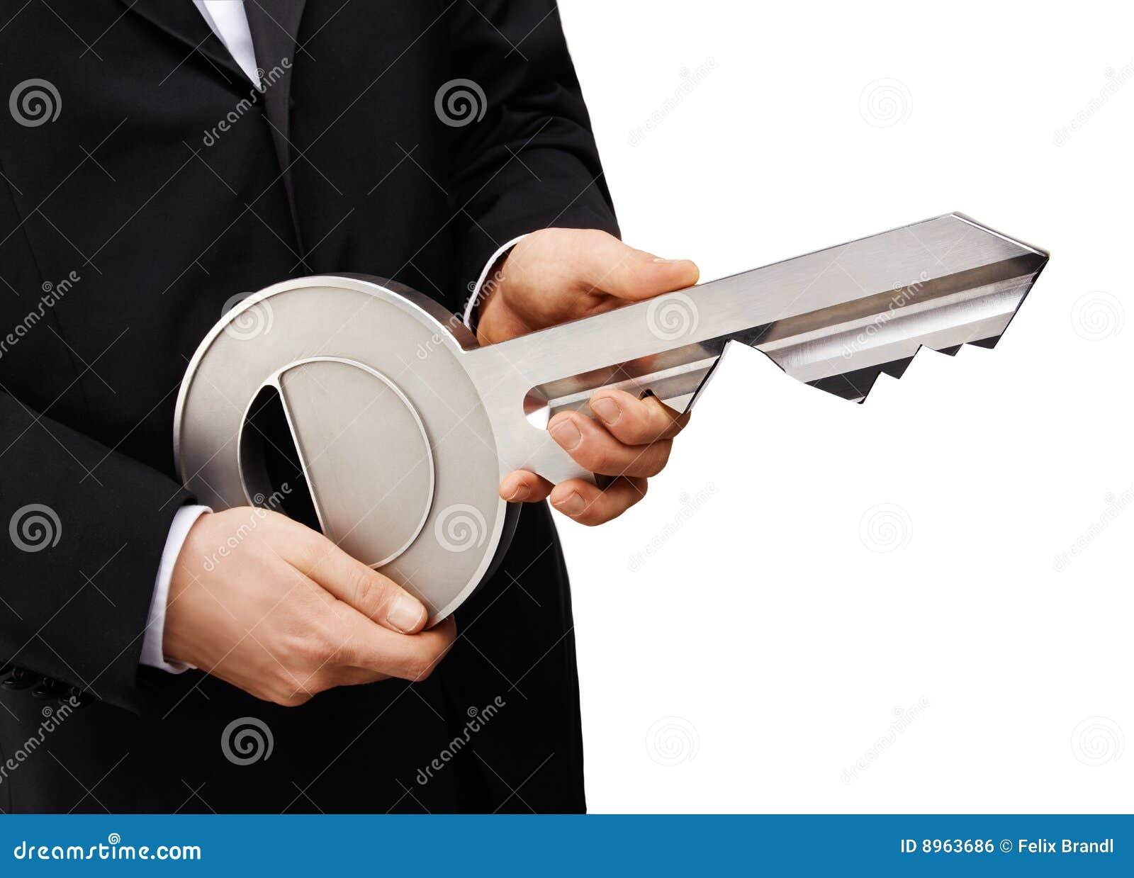 1 de tamanho grande chave foto de stock. Imagem de mão