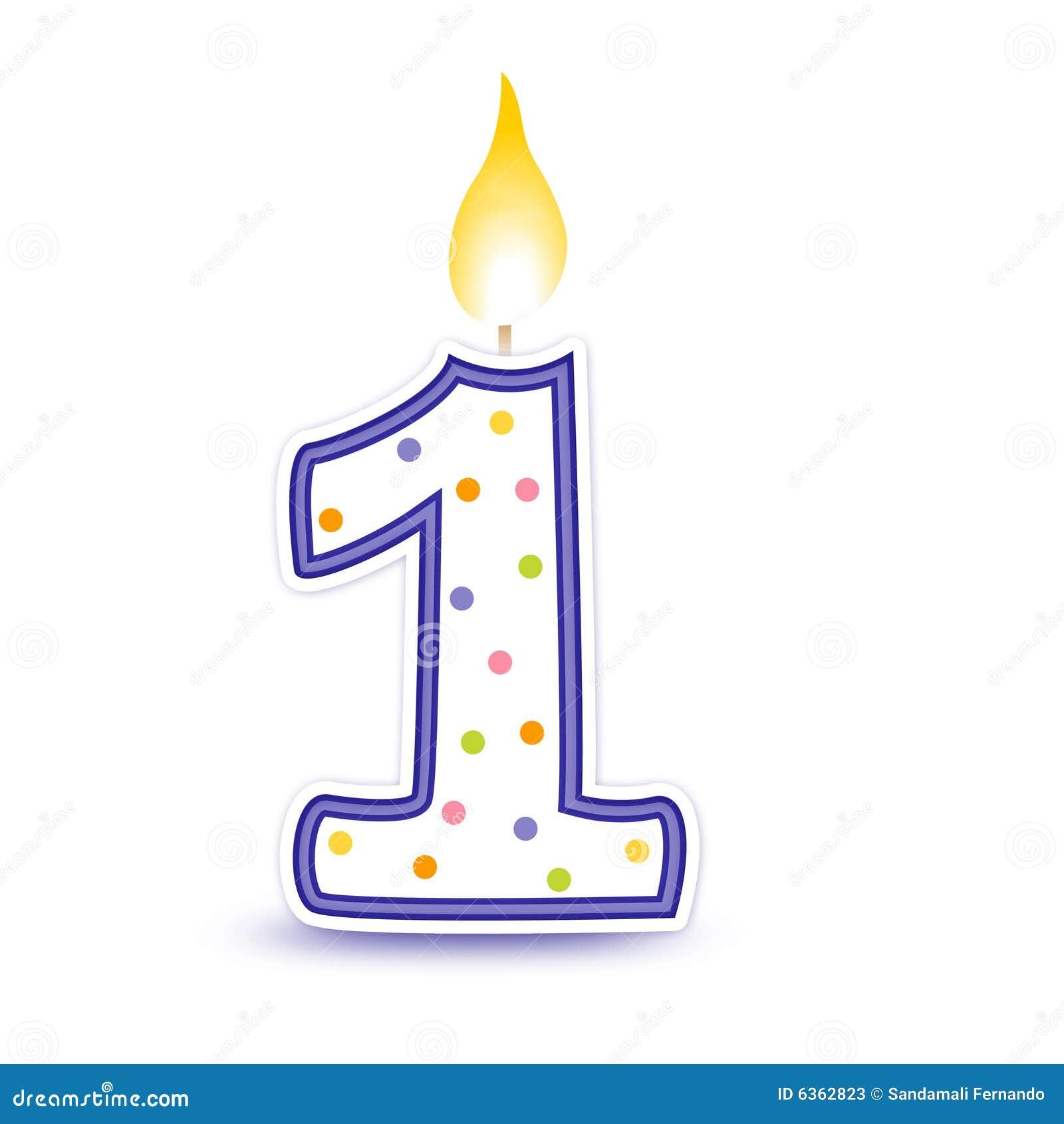 1 födelsedagstearinljus
