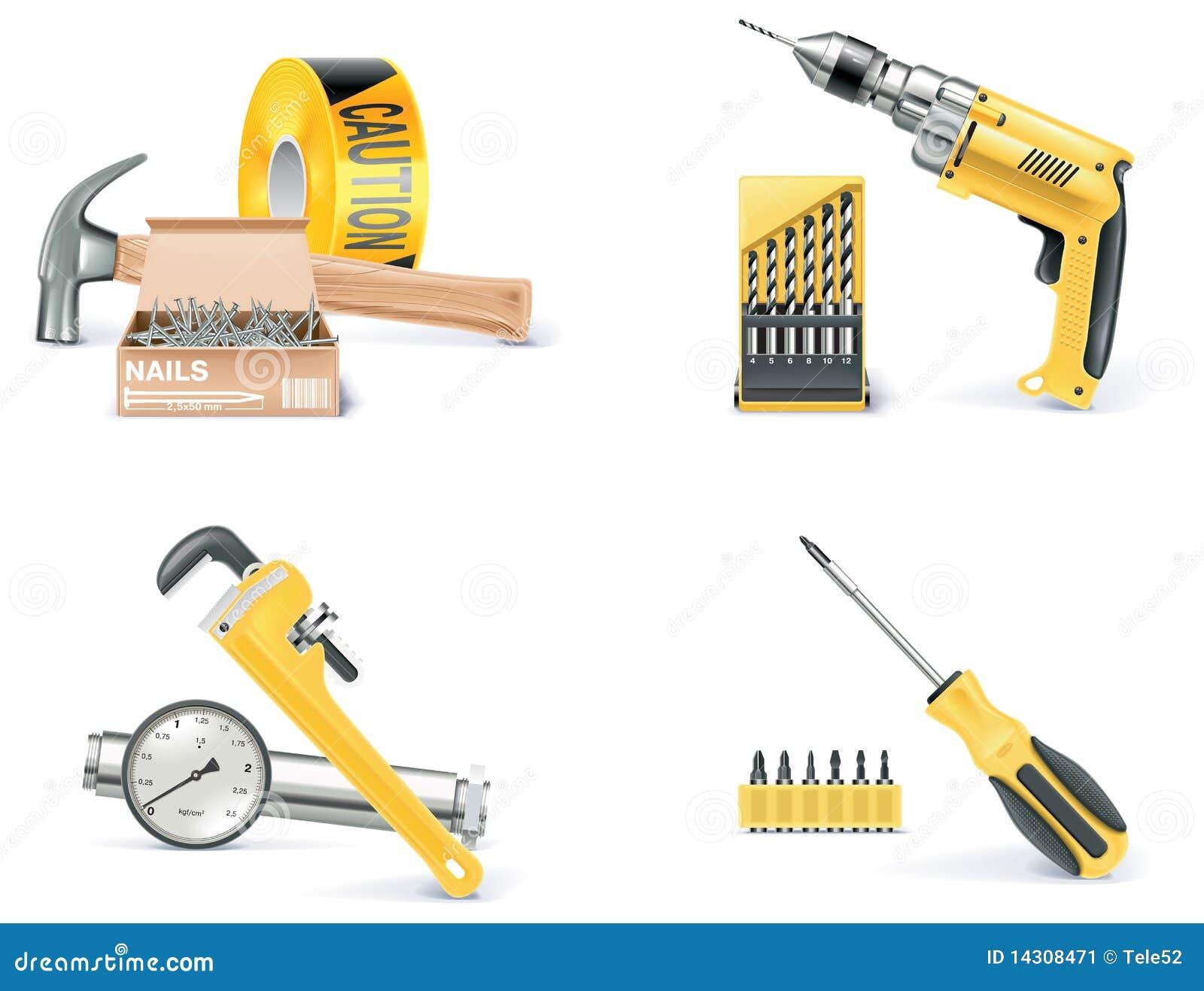 1 homebuilding symbolsdel som renoverar den set vektorn