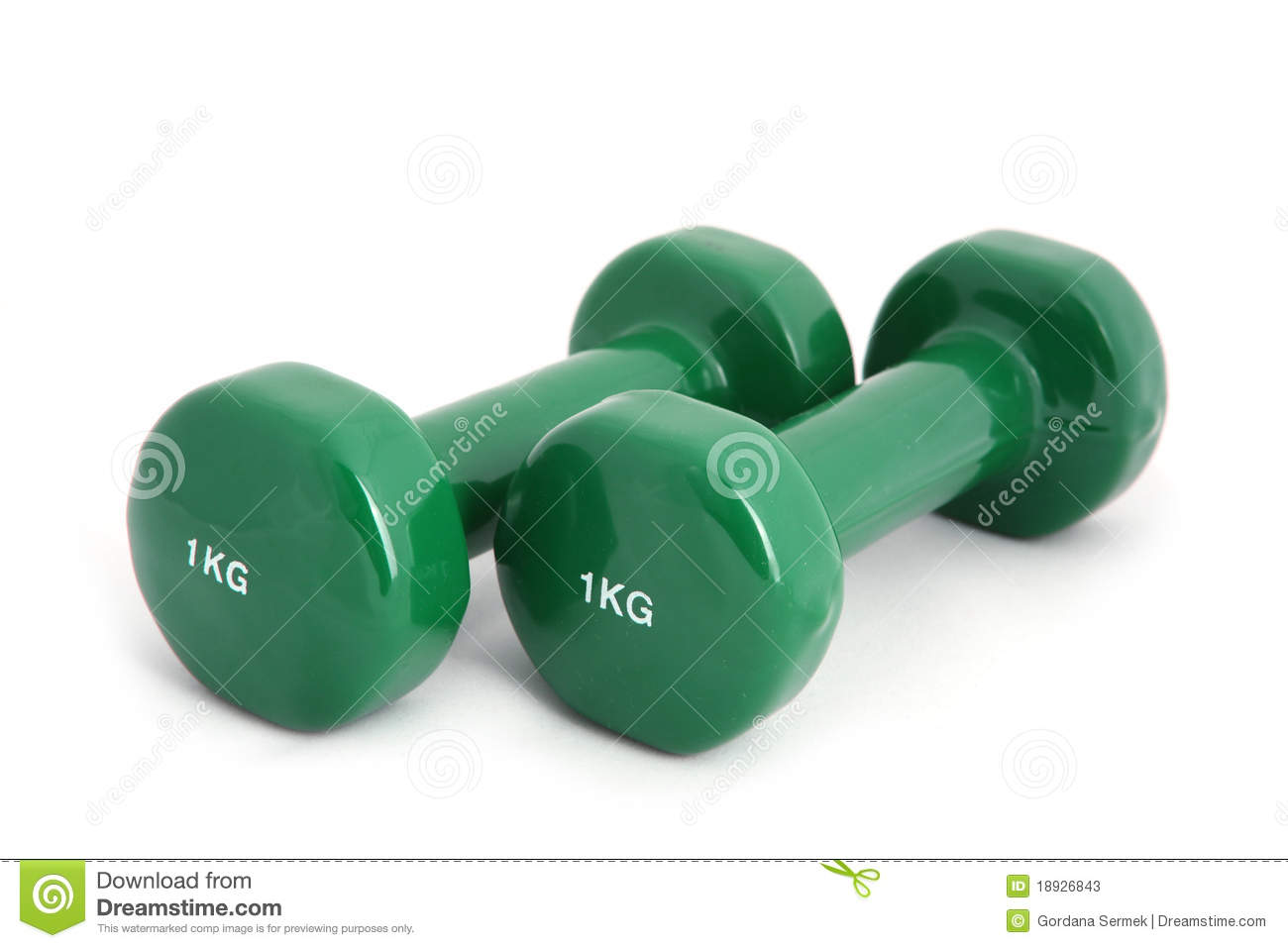 1 Kg Rubber Coated Dumbbell Stock Photos