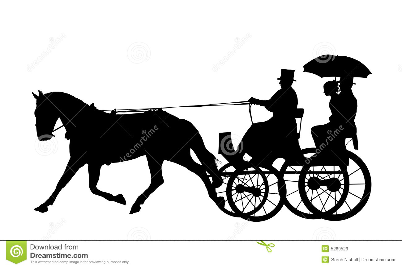 Horse And Carriage Drawing Horse And Carriage Silhouette