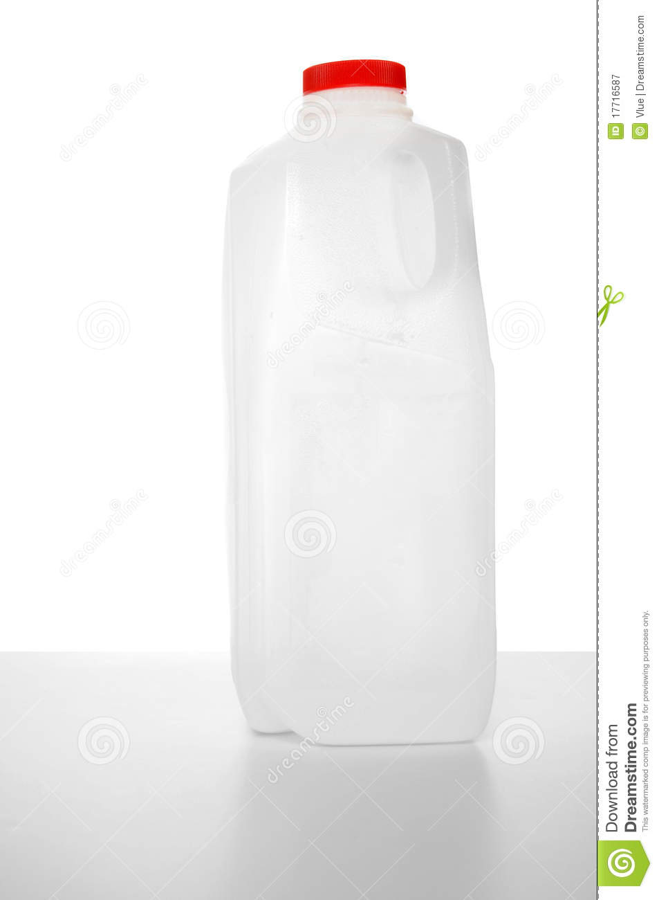 1 Liter Milk Carton Royalty Free Stock Photography Image