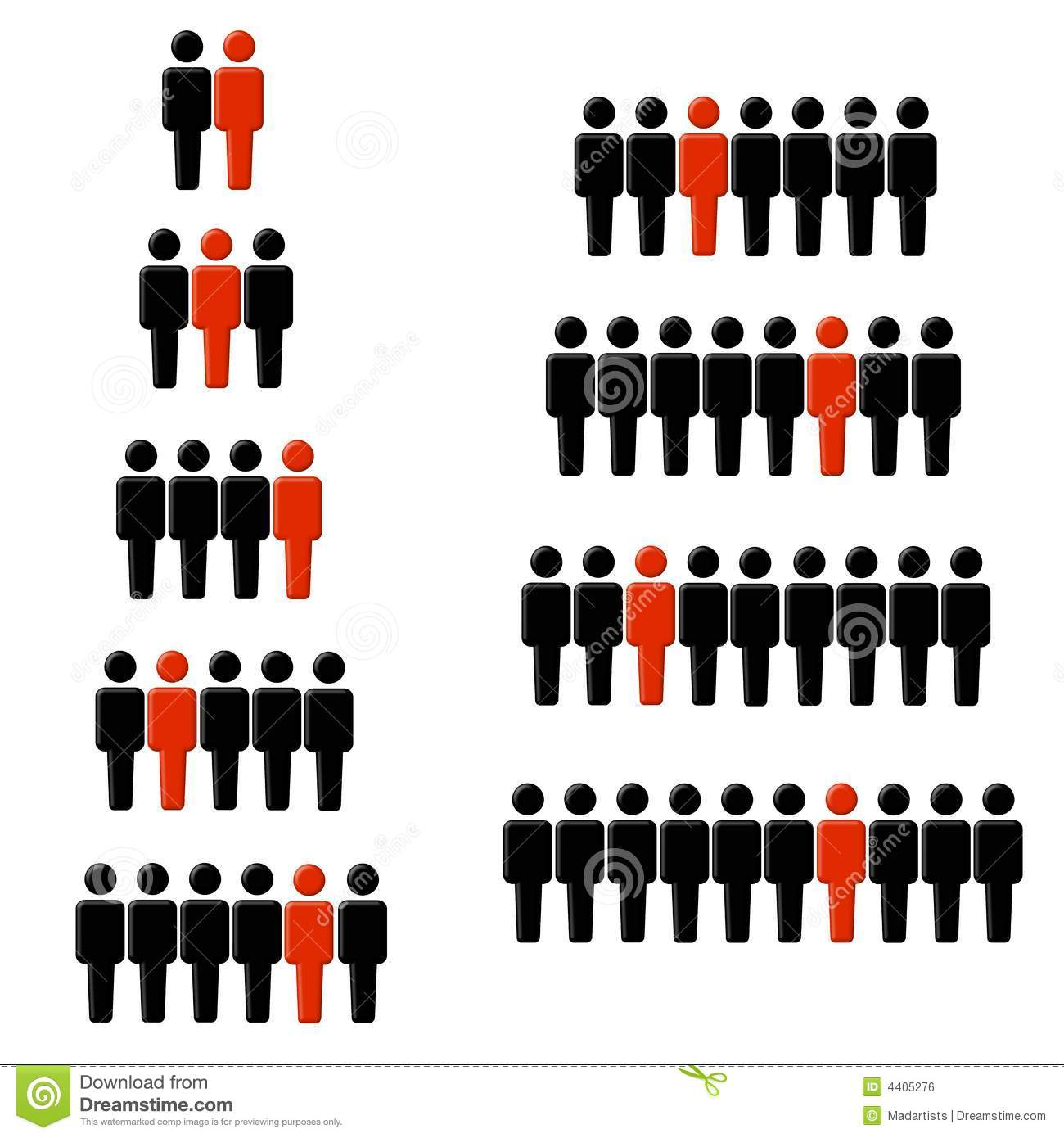 1 Out Of Every Statistic Figures Stock Illustration