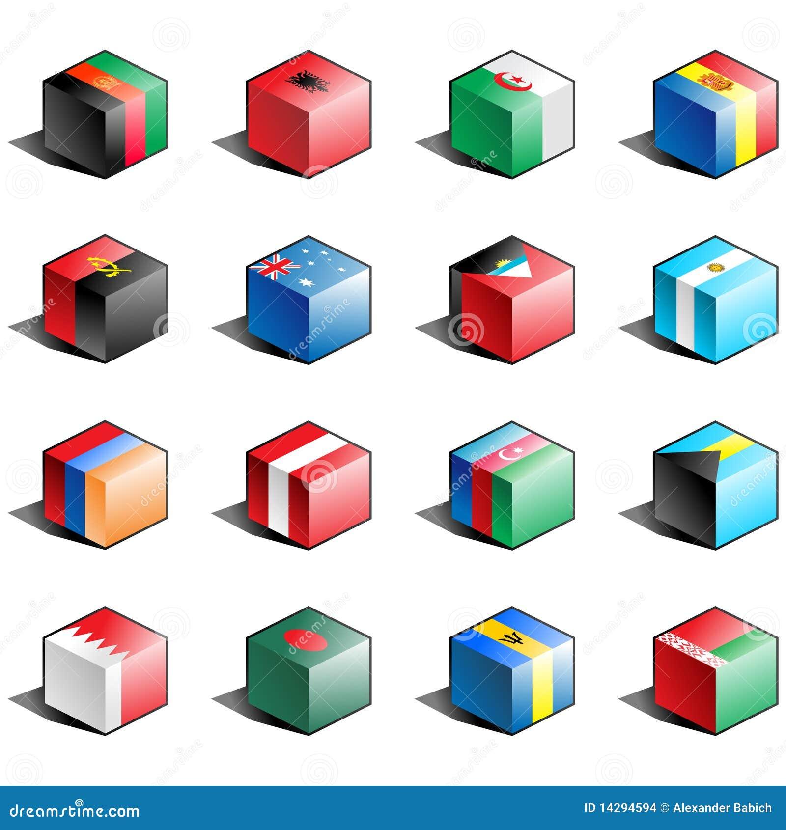 1 set för flaggasymbolsdel