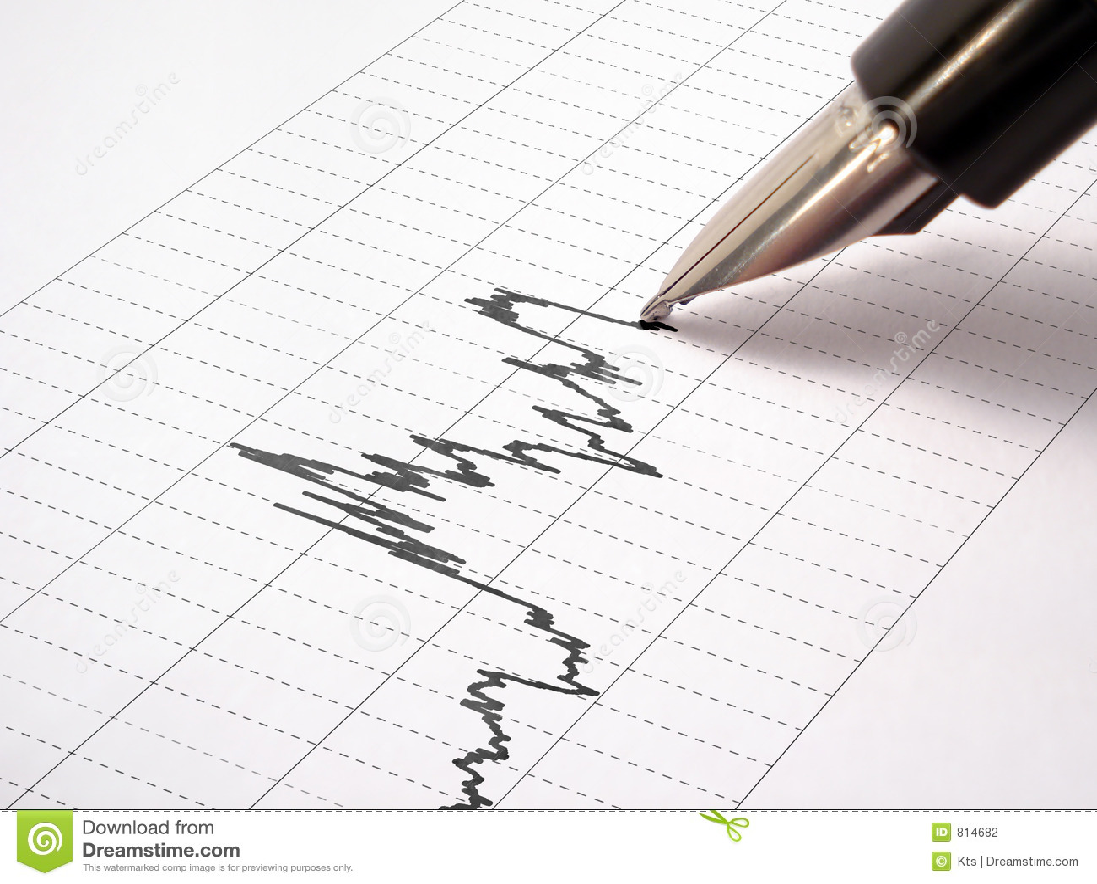 1 tecknar pennan för fjädergrafrastret