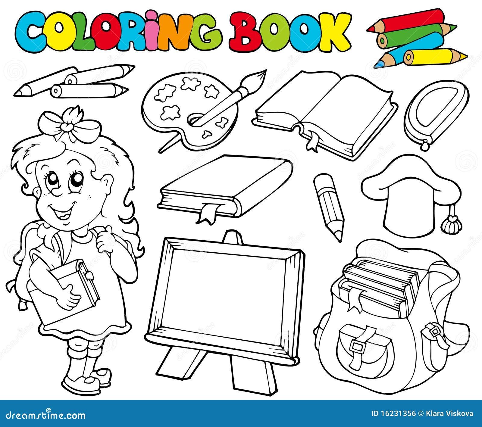 1 tema för bokfärgläggningskola