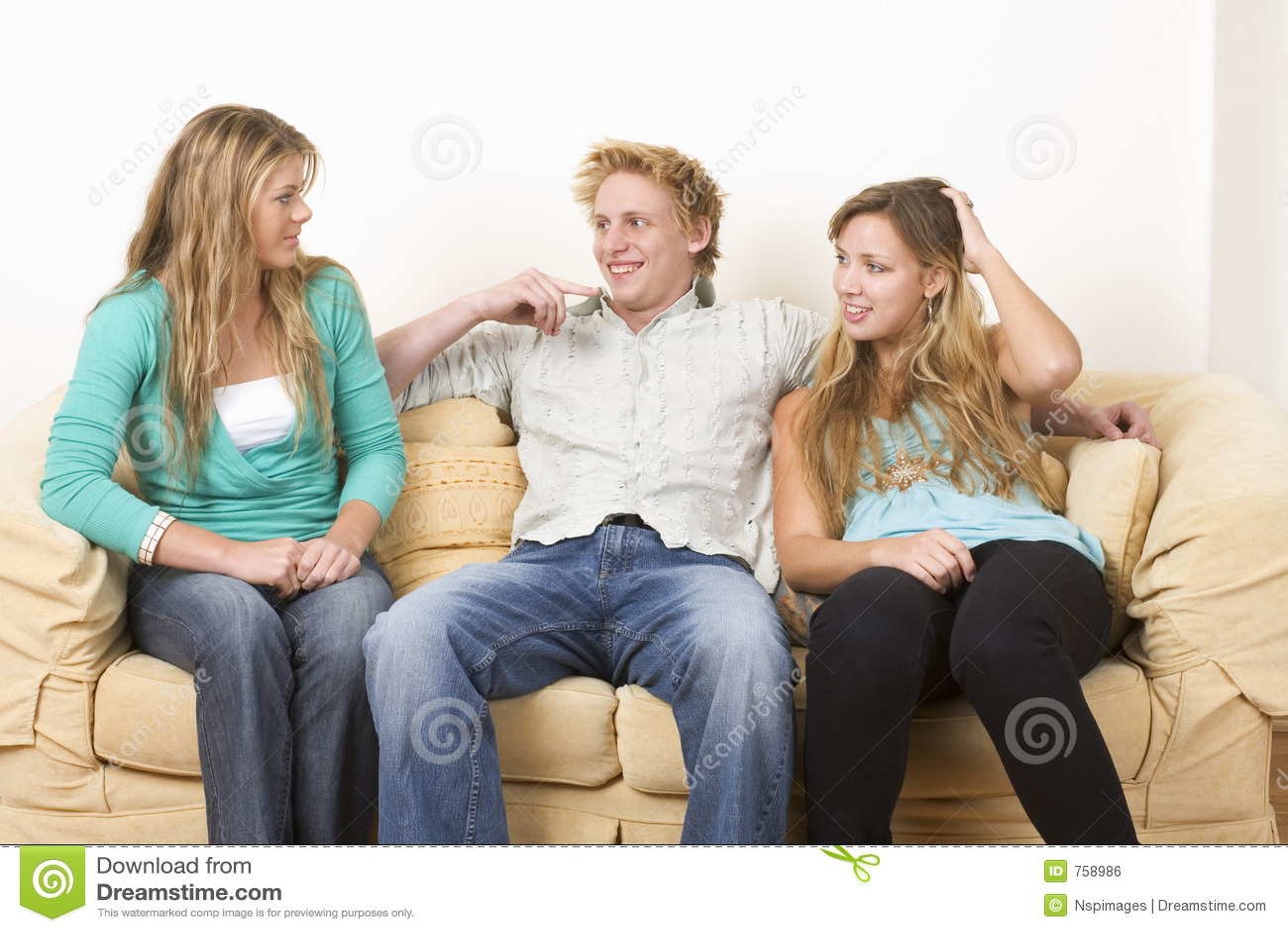 1 vänner tre