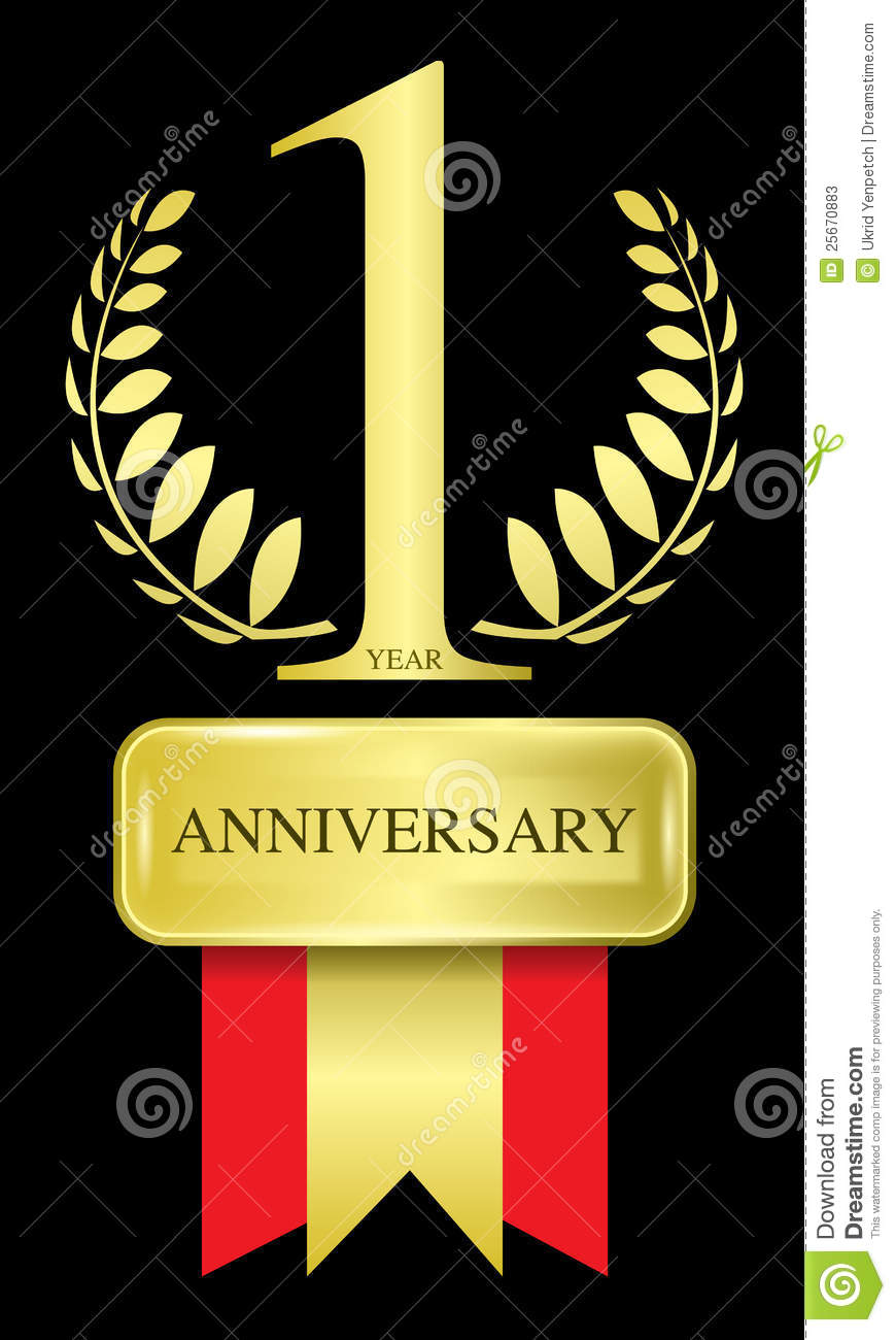 Abstract of 1 year anniversary n ai versions (ai 10), vector format.