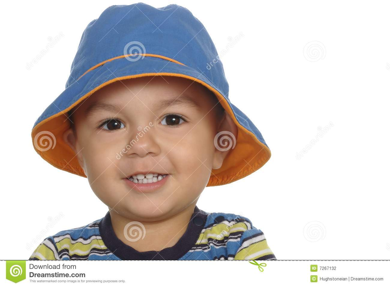 2cc63645f 1-year-old Boy With Blue Hat Stock Photo - Image of white ...