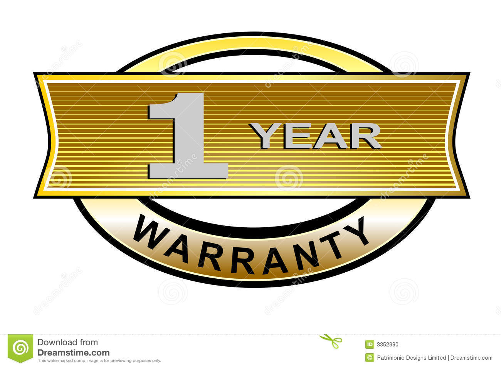 1 year warranty seal belt stock illustration illustration of