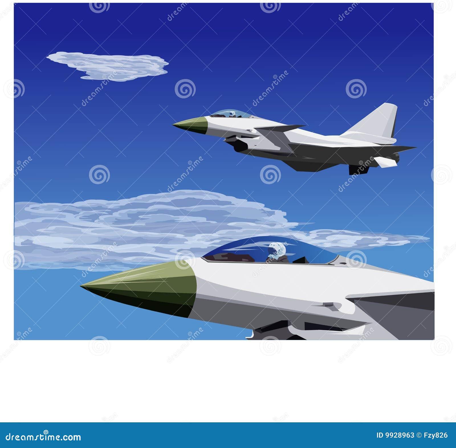 10架战斗机飞行形成j喷气机