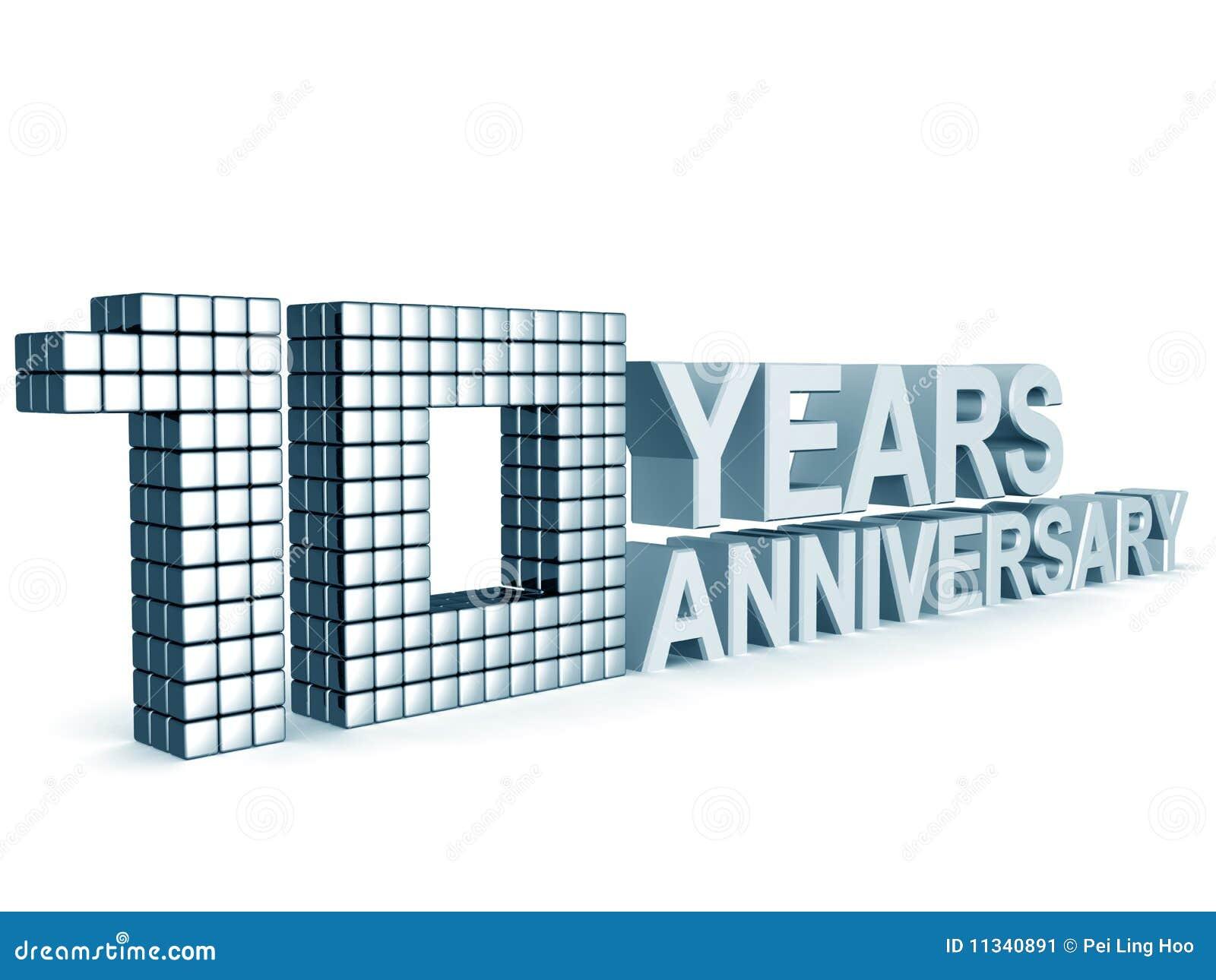 10 årsdagår
