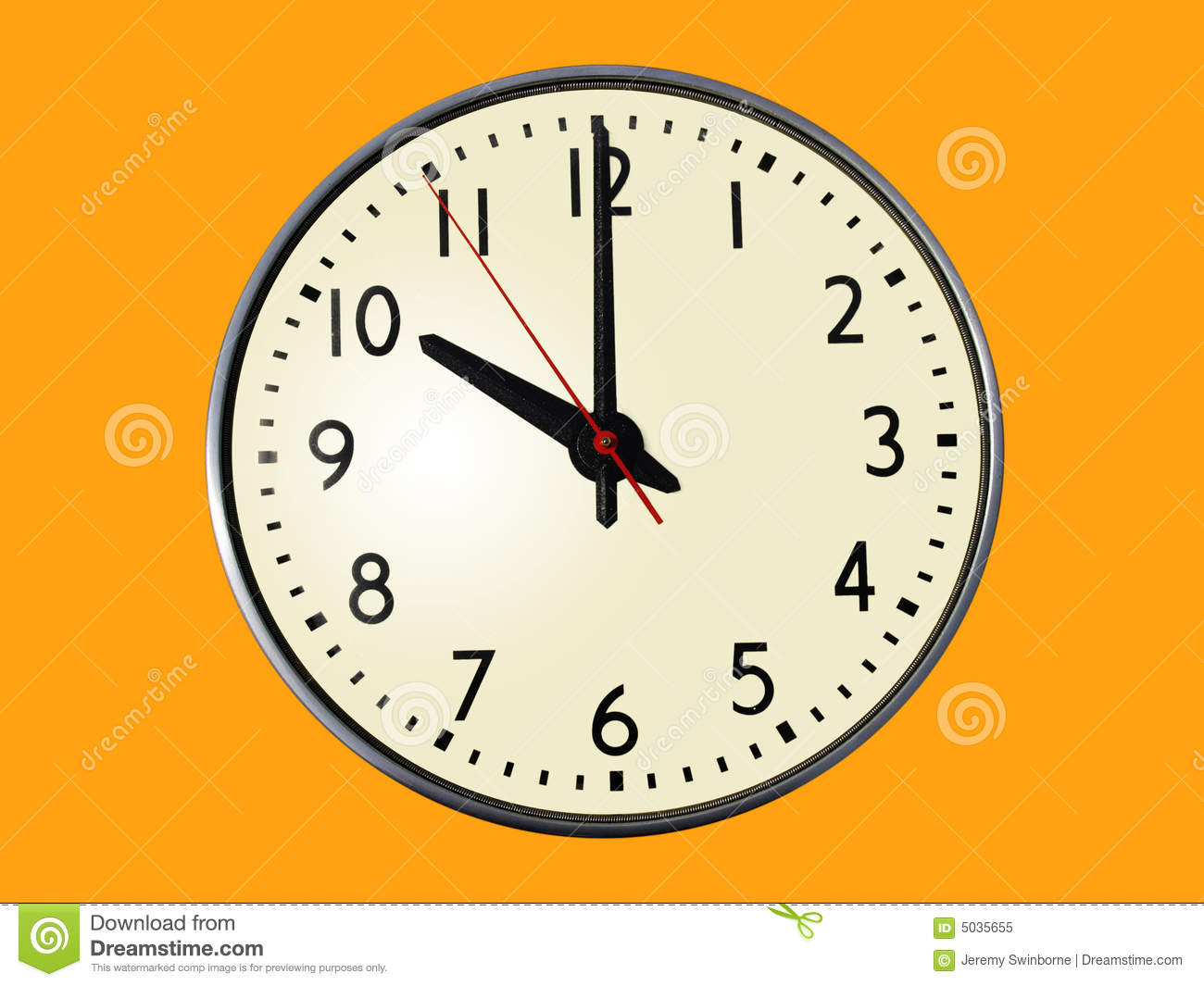 10 00 O 39 Clock Stock Image Image Of Hand Isolated Time