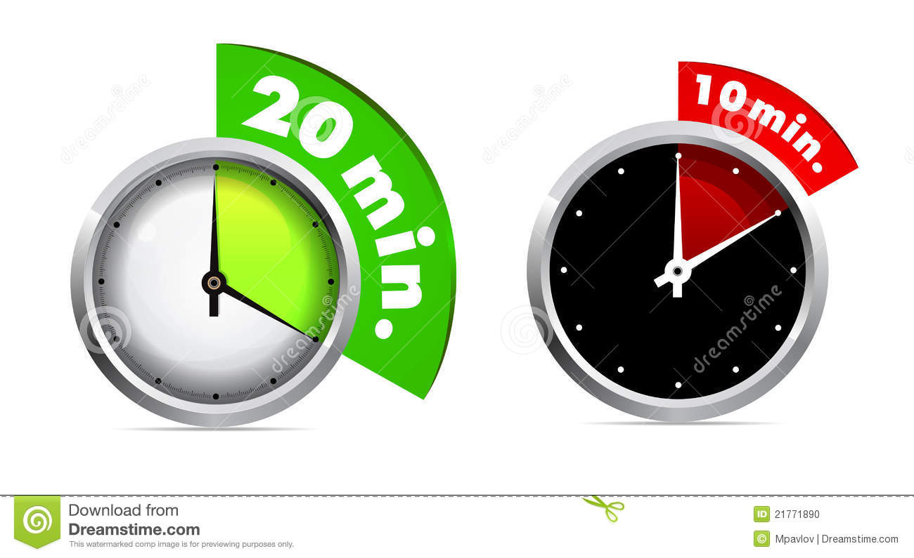 10 and 20 minutes timer stock vector illustration of object 21771890