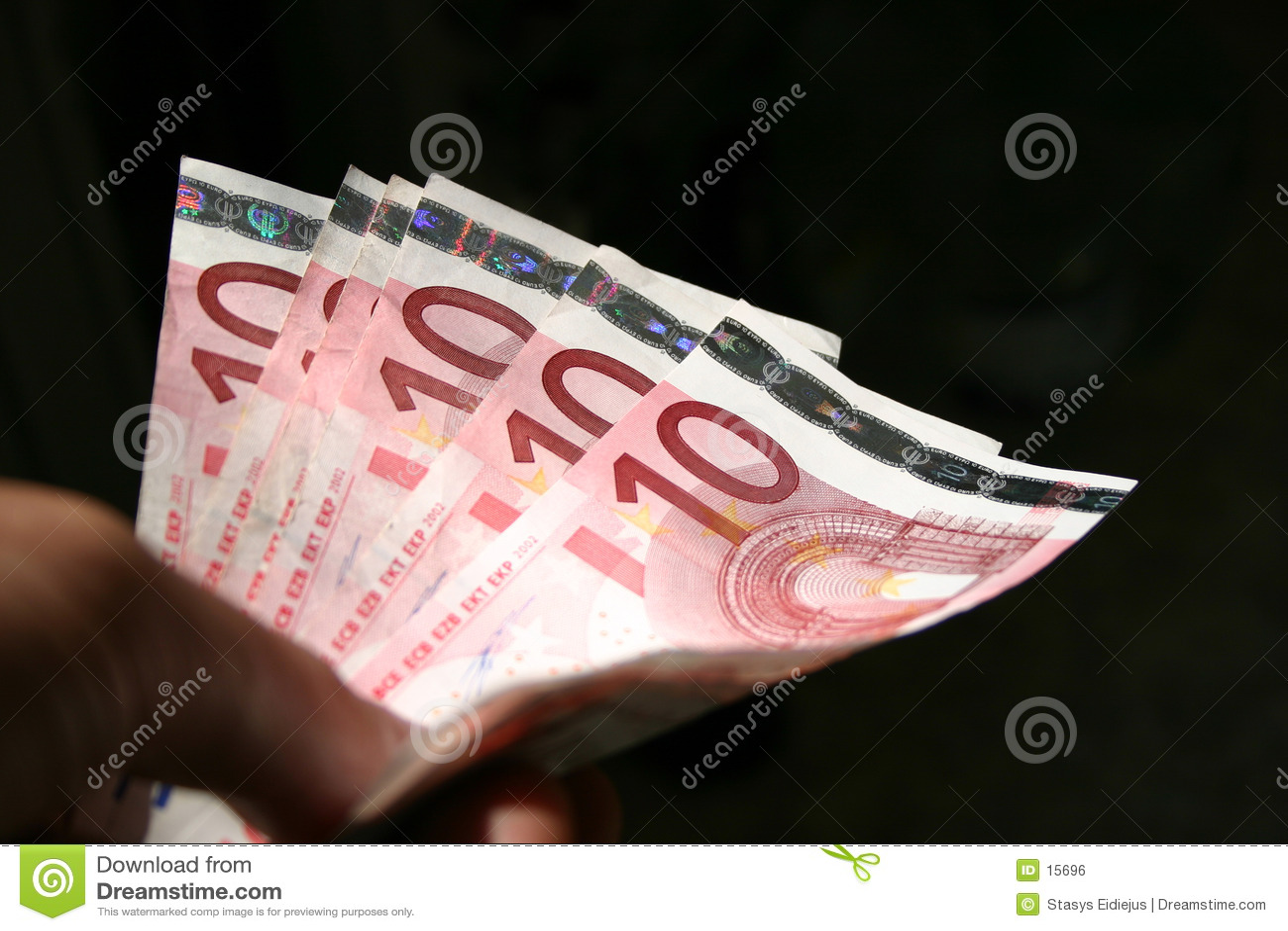 10个票据结算欧元