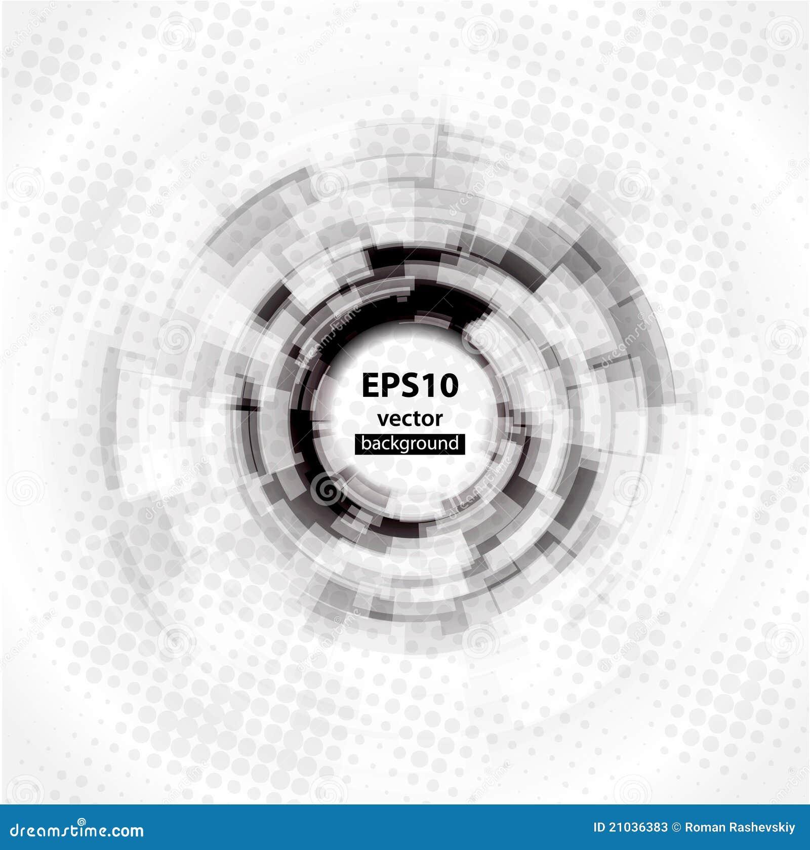 10 abstrakcjonistyczny tła okręgu eps techno