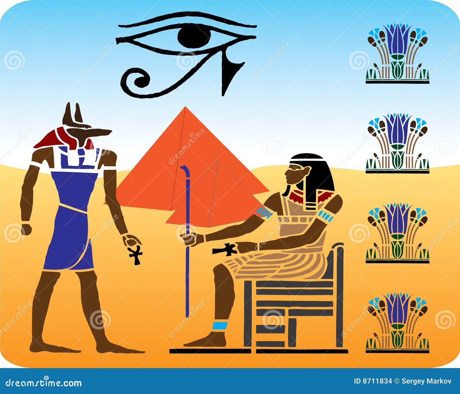 10 egyptiska hieroglyphics