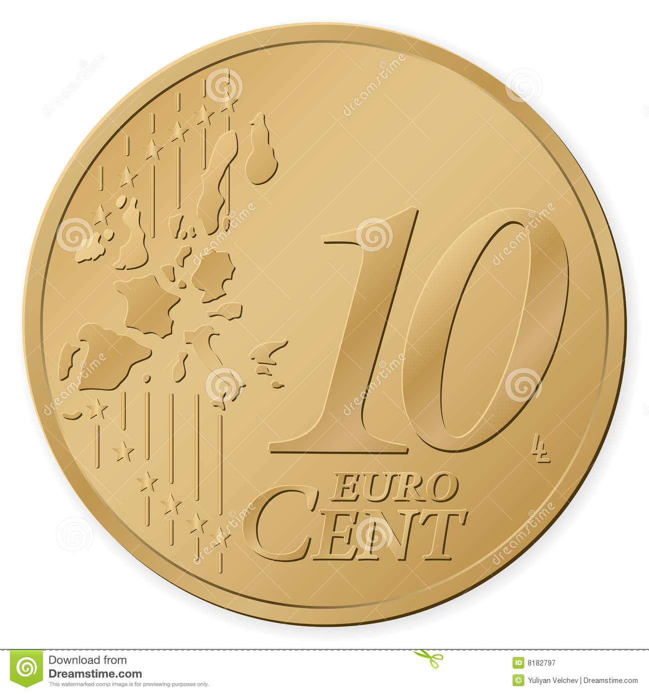 10 euro cent stock vector image of cent business - Stock piastrelle 2 euro ...
