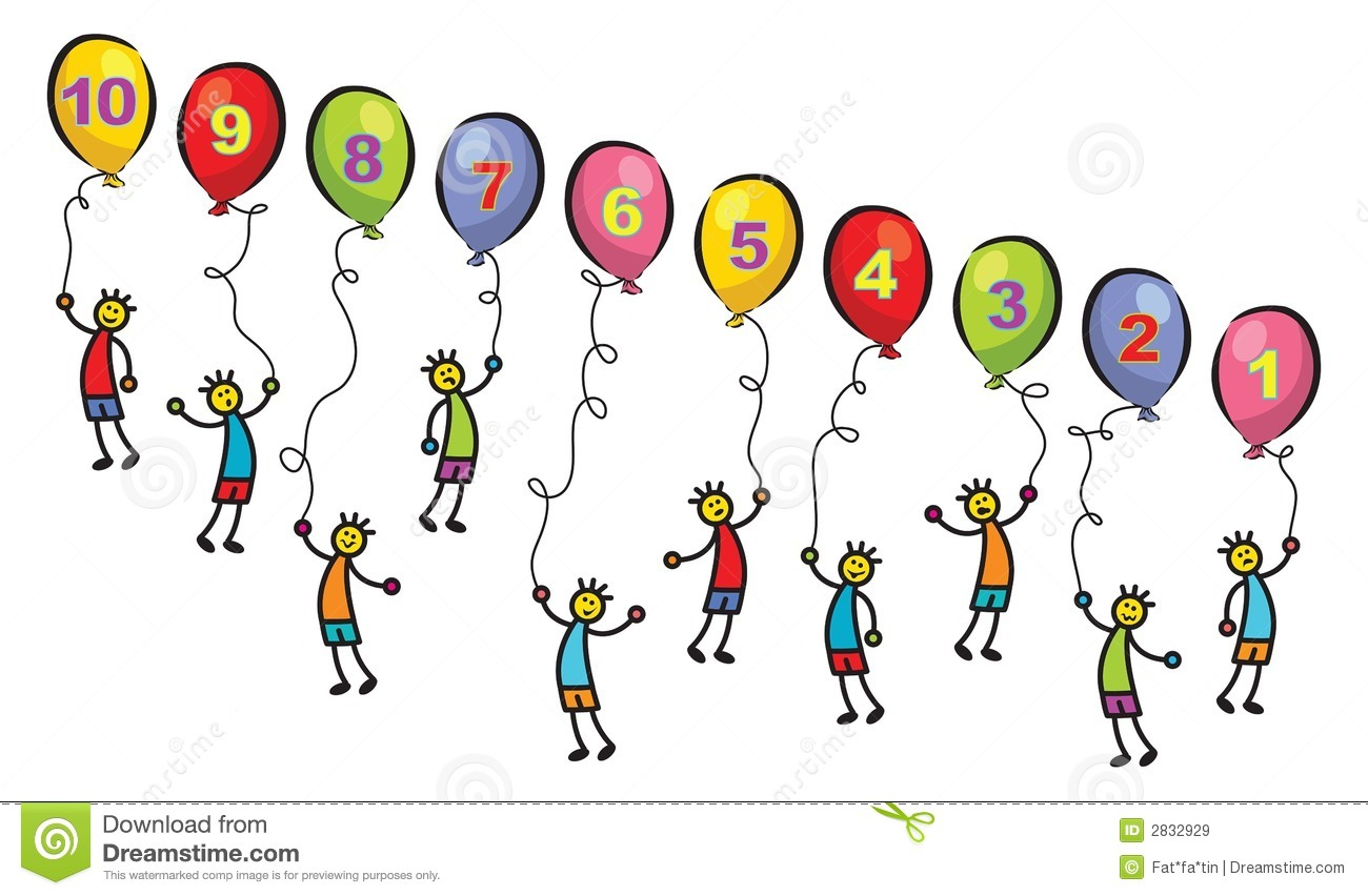 10 little men with balloons