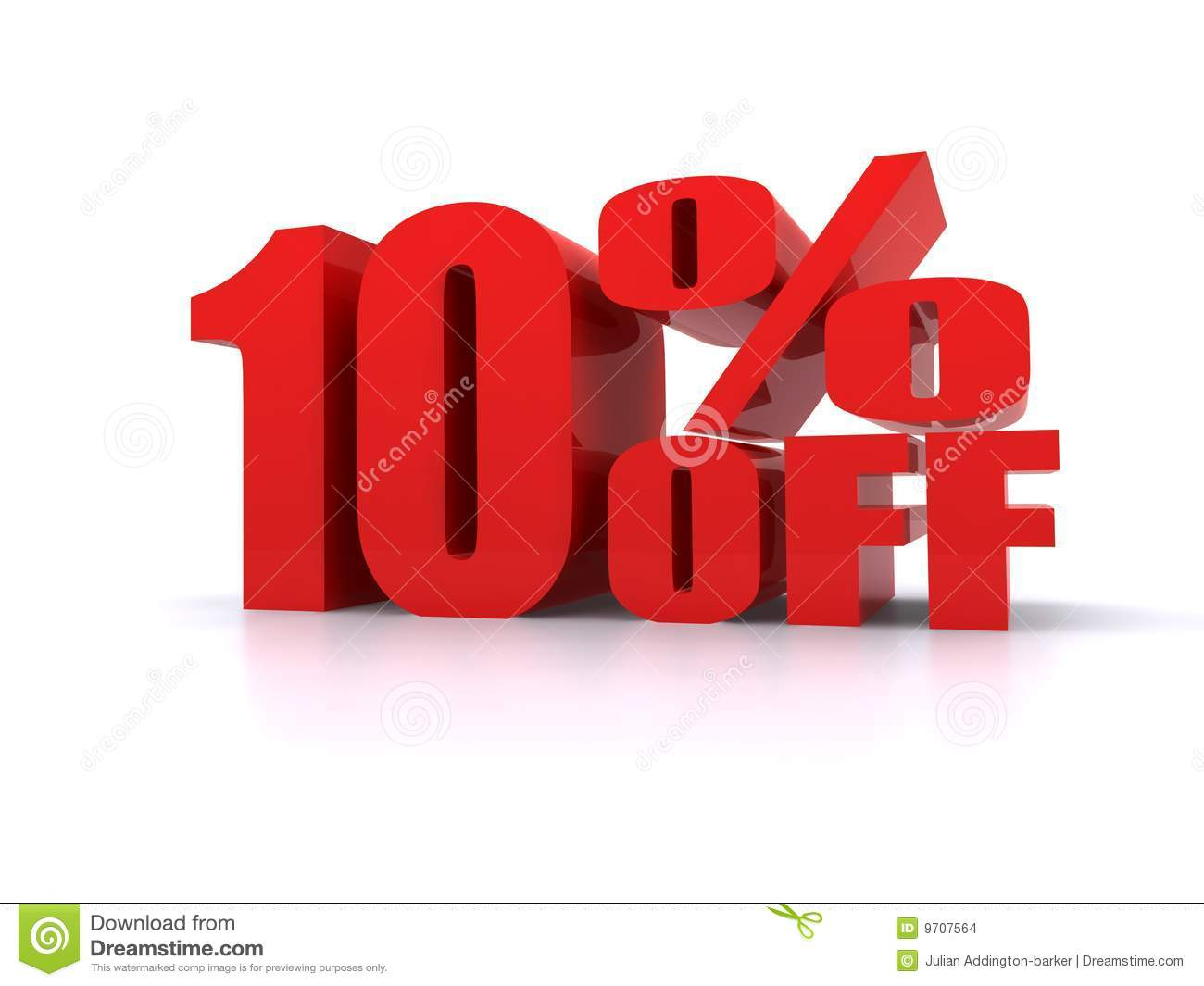 10% Off Big Promotional Sign Stock Images - Image: 9707564