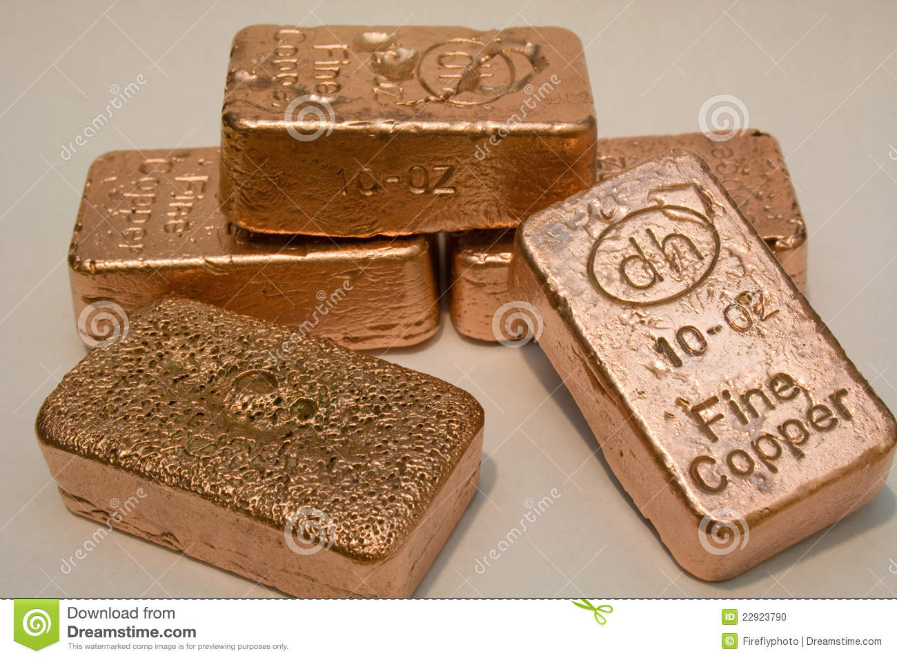 10 Ounce Pure Copper Bullion Bars Editorial Image Image