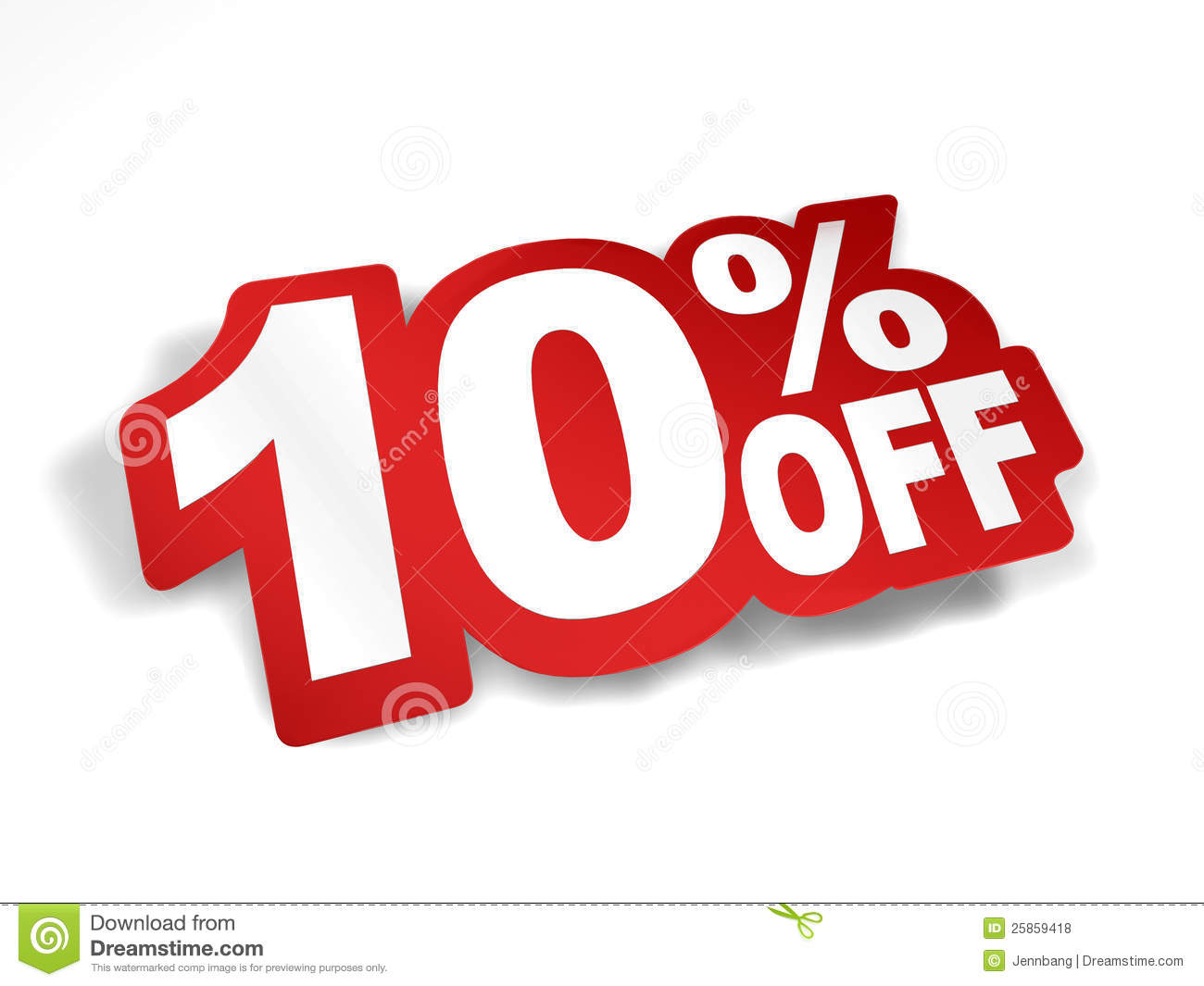 10 Percent Off Discount Royalty Free Stock Photos - Image: 25859418