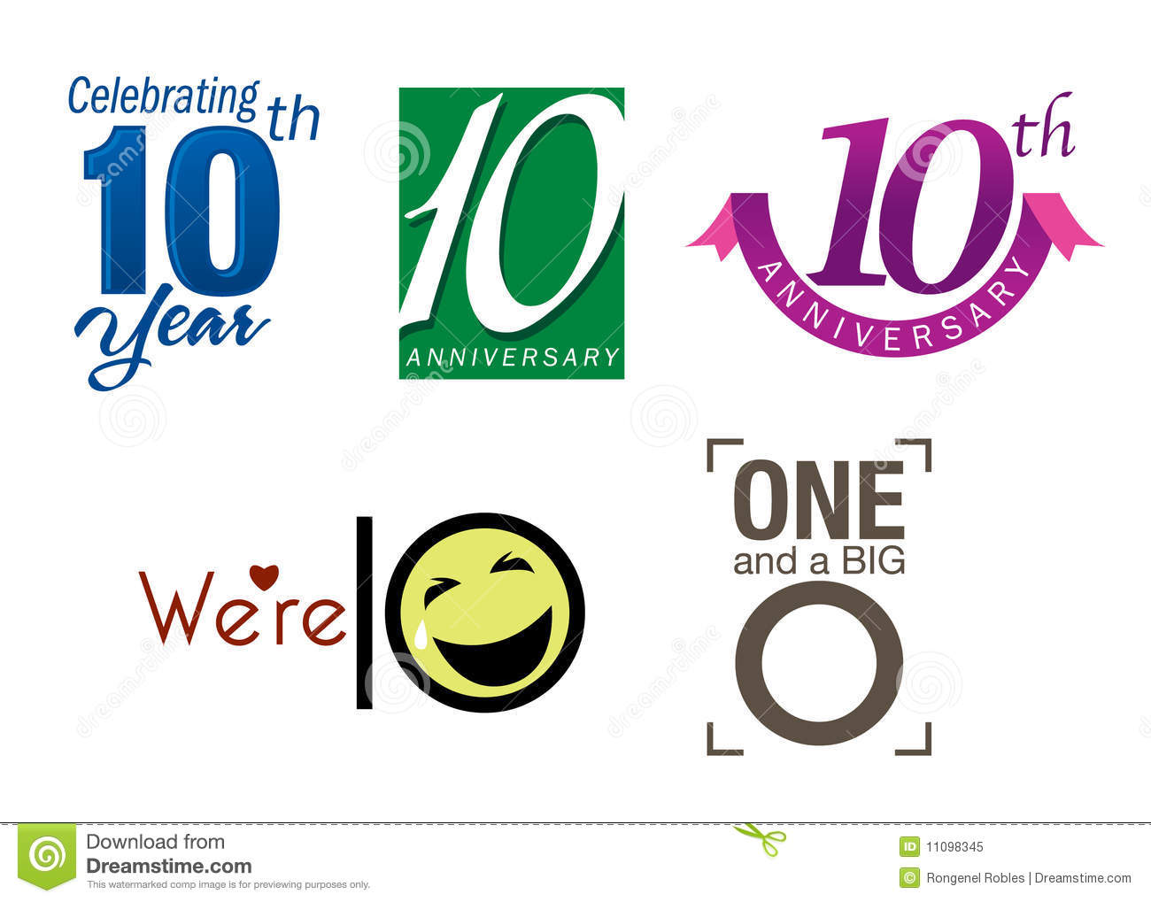10 th year anniversary stock vector image of colorful 50th Anniversary Logos Clip Art 10 Year Anniversary Clip Art