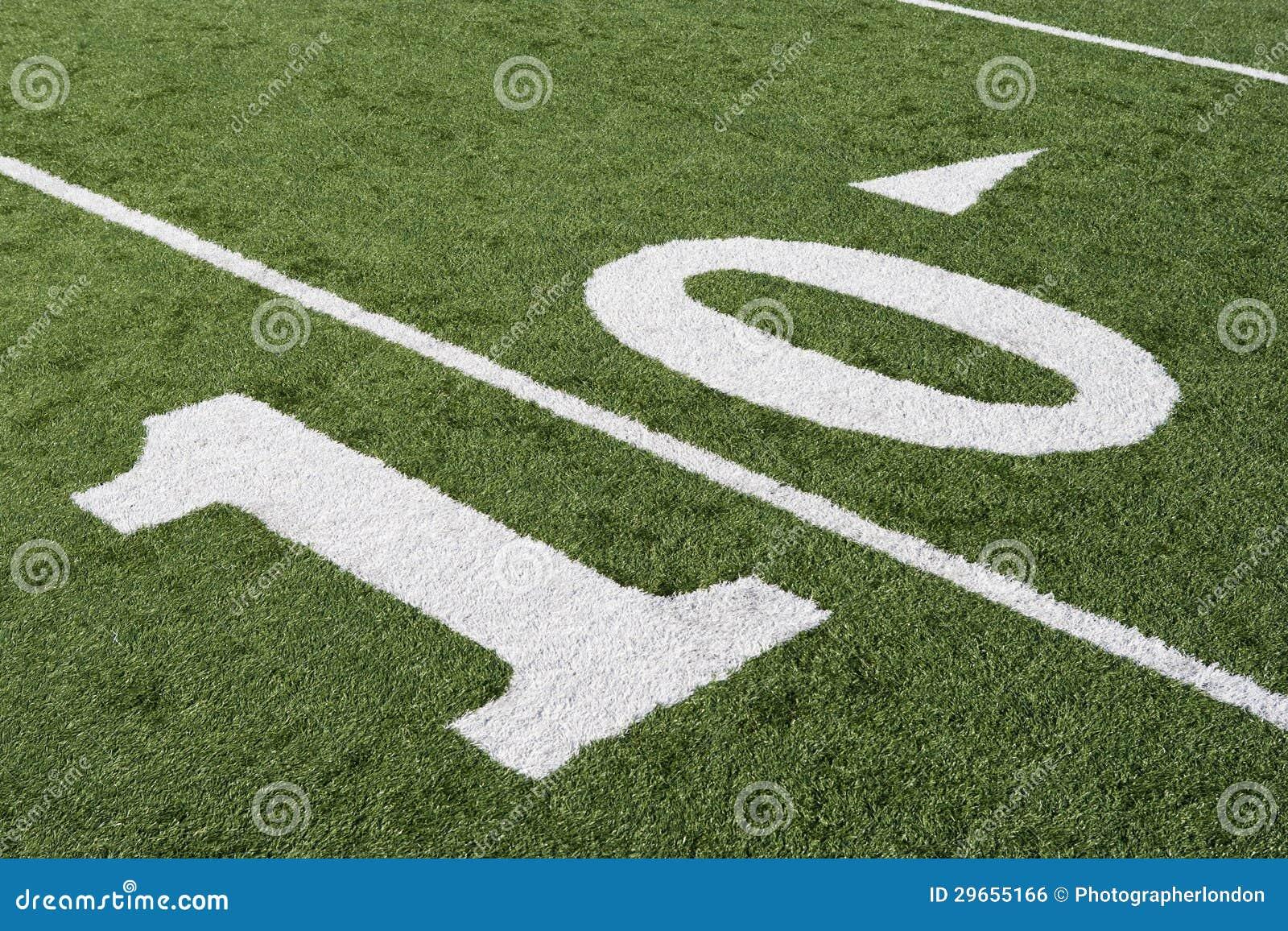 10 Yard Line On American Football Field Stock Photo Image Of Sport Yardline 29655166