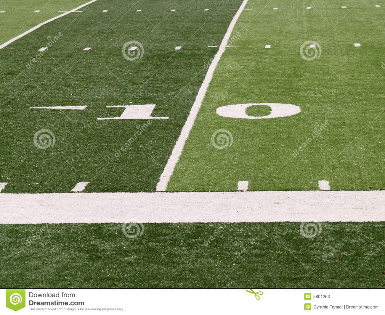 10 Yard Line On Football Field Stock Photos Image 5801253