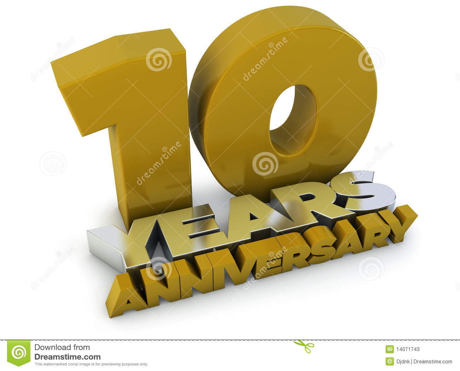 10 Years Anniversary Stock Illustration Illustration Of Concept