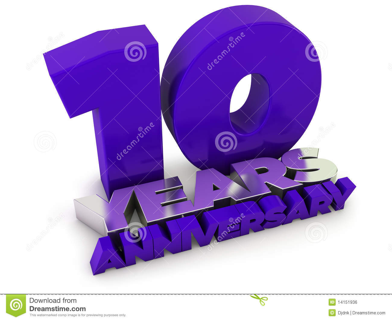 10 Years Anniversary Stock Illustration Image Of Number