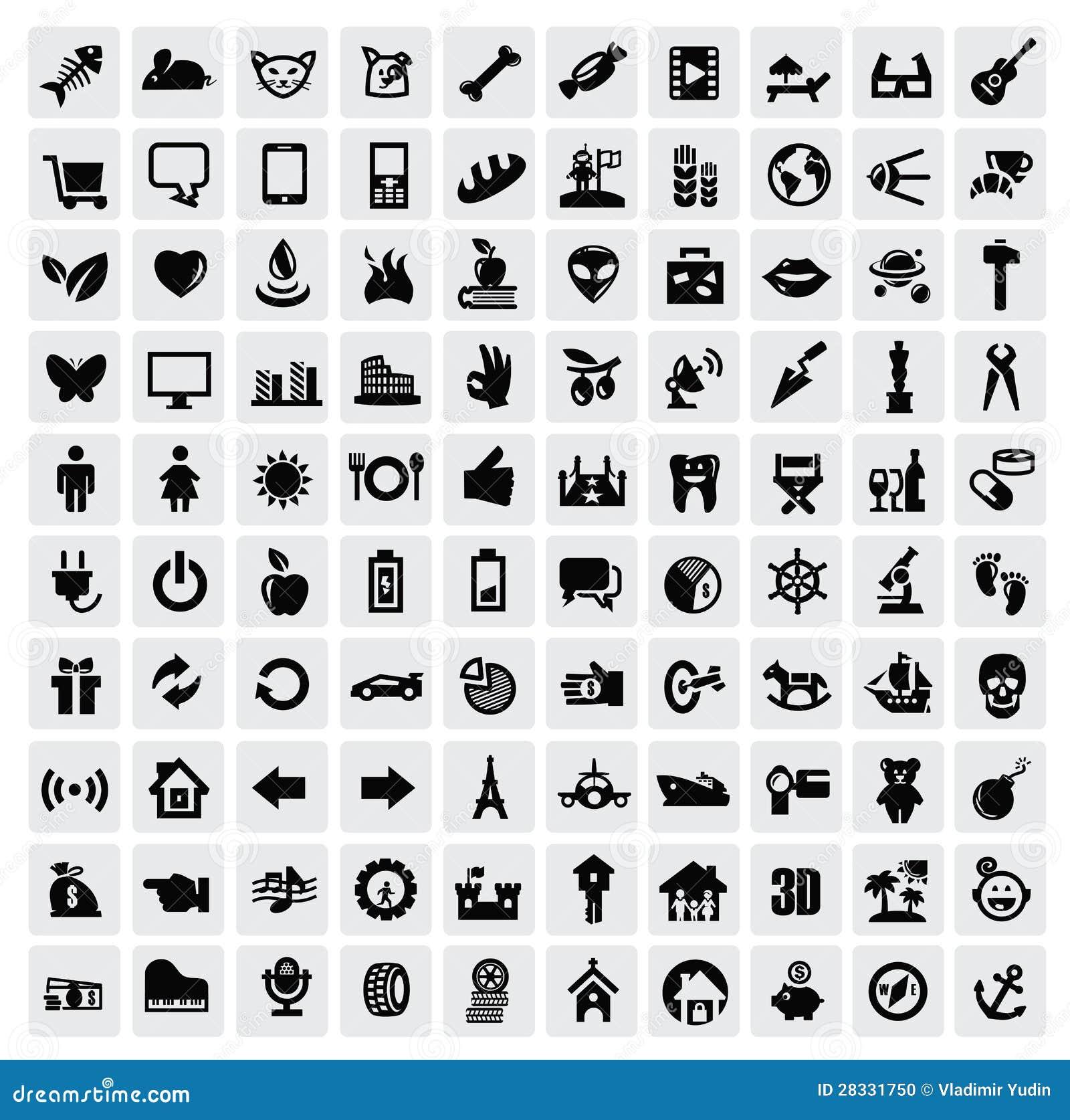 100个万维网图标