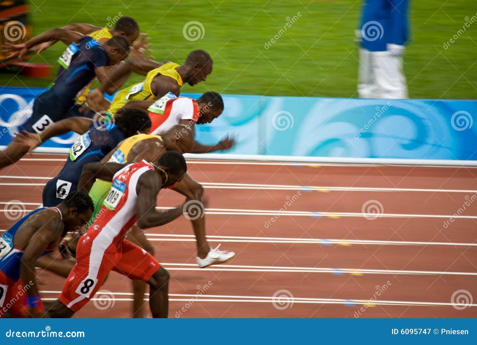 100精神米奥林匹克短跑