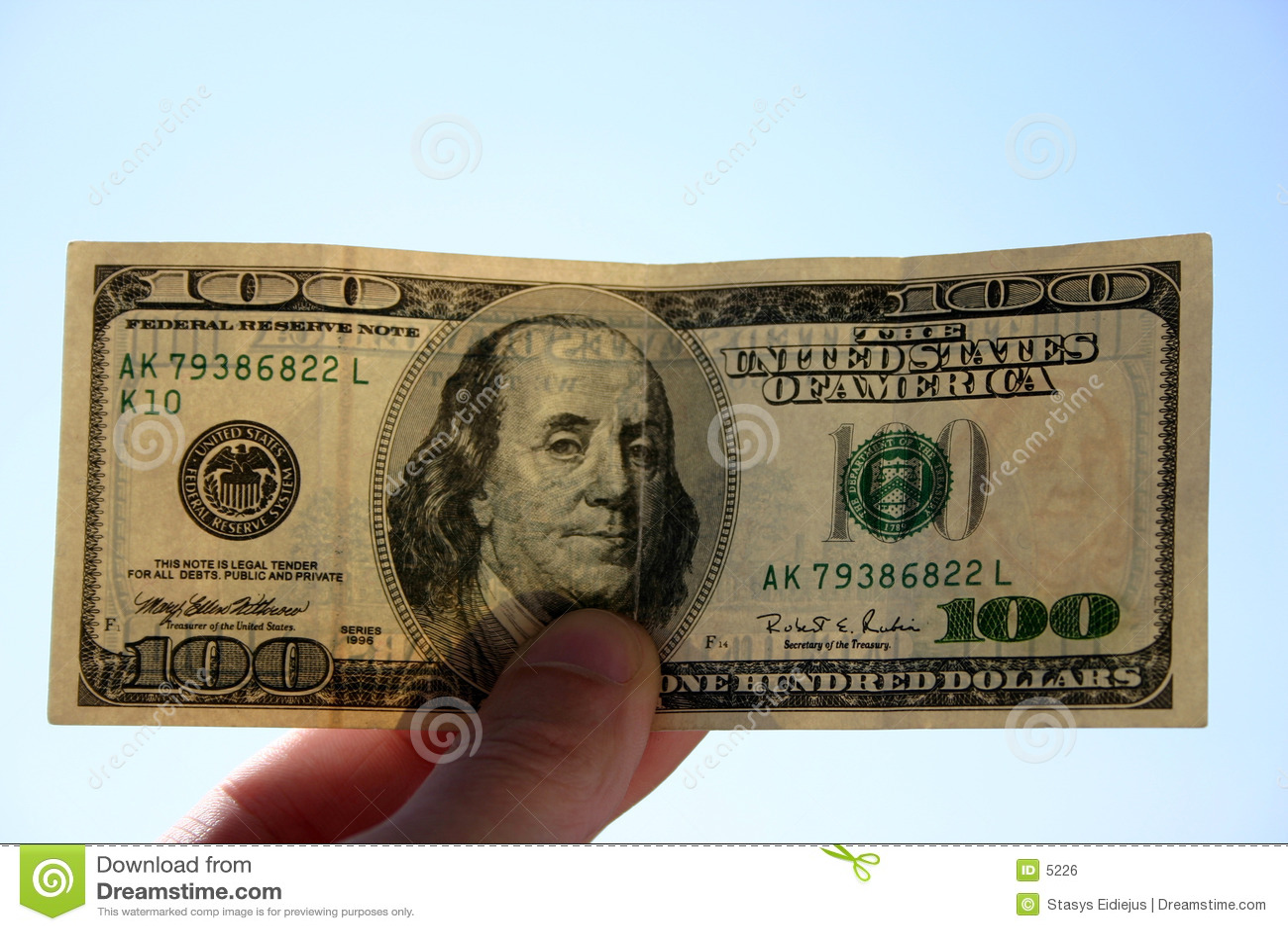 100 δολάρια τραπεζογραμματίων