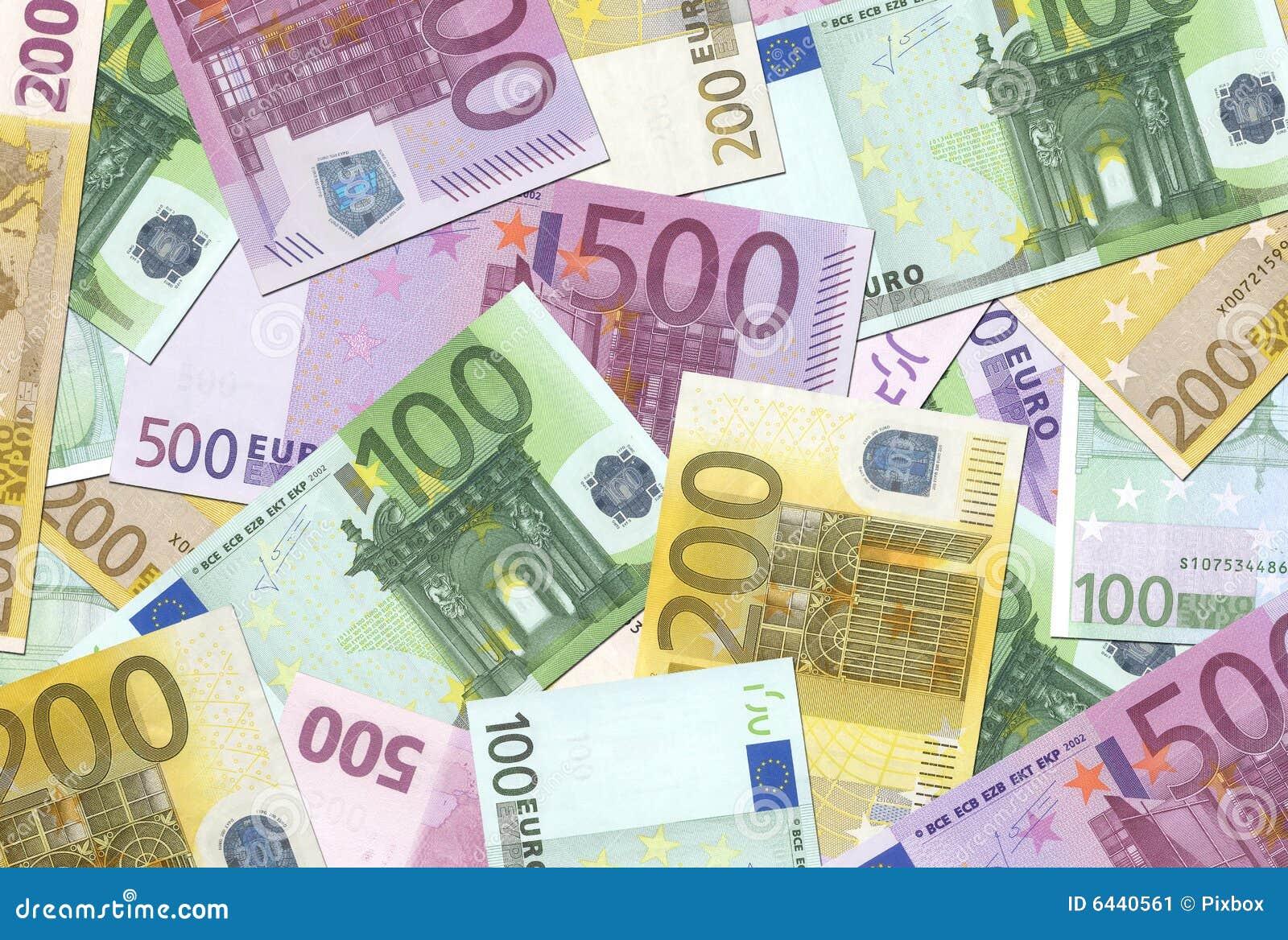100,200,500 de euro Textuur van Nota s