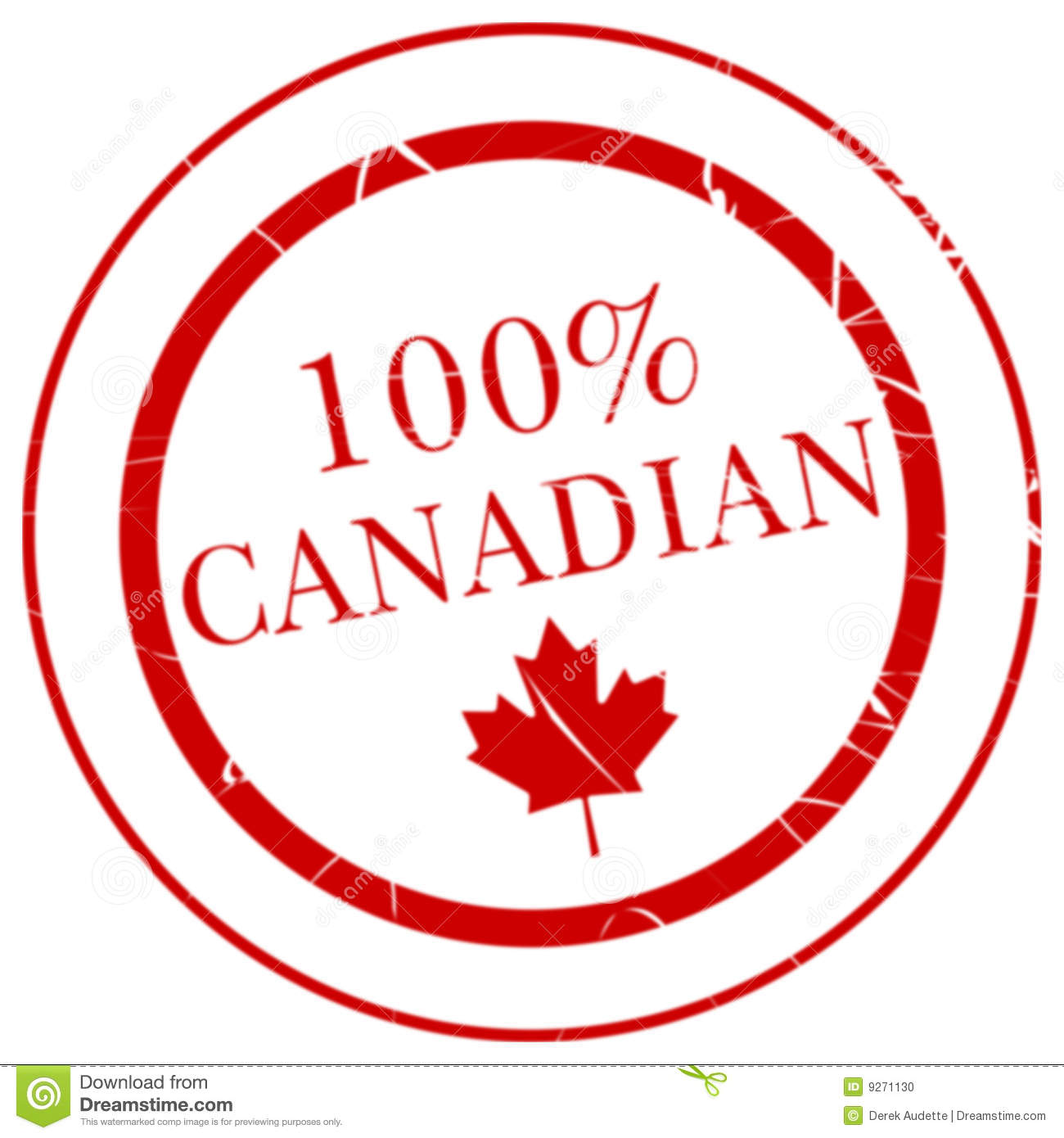 100  canadian rubber stamp stock photo