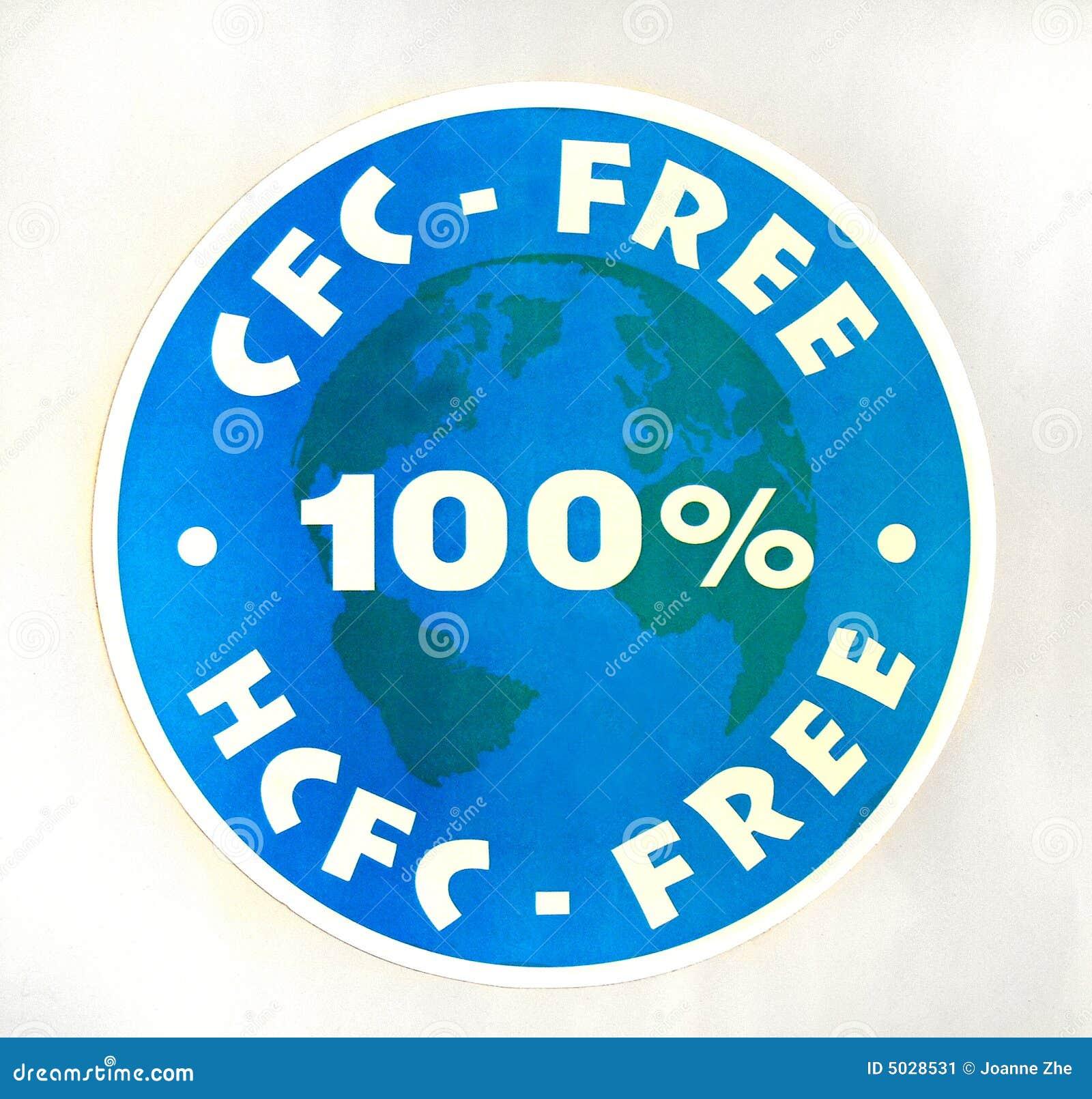 100 cfc自由hcfc符号