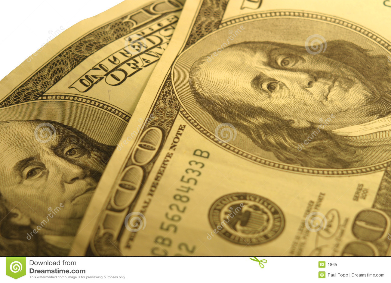 100 contas de dólar