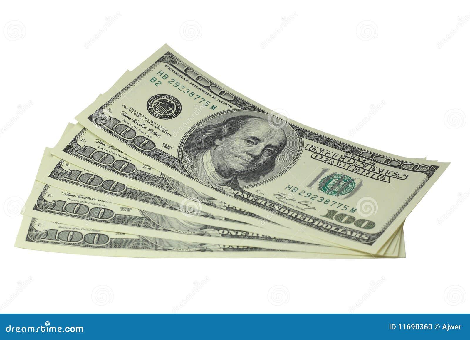 100 Dollar stockfoto. Bild von weiß, hintergrund, zahl - 11690360