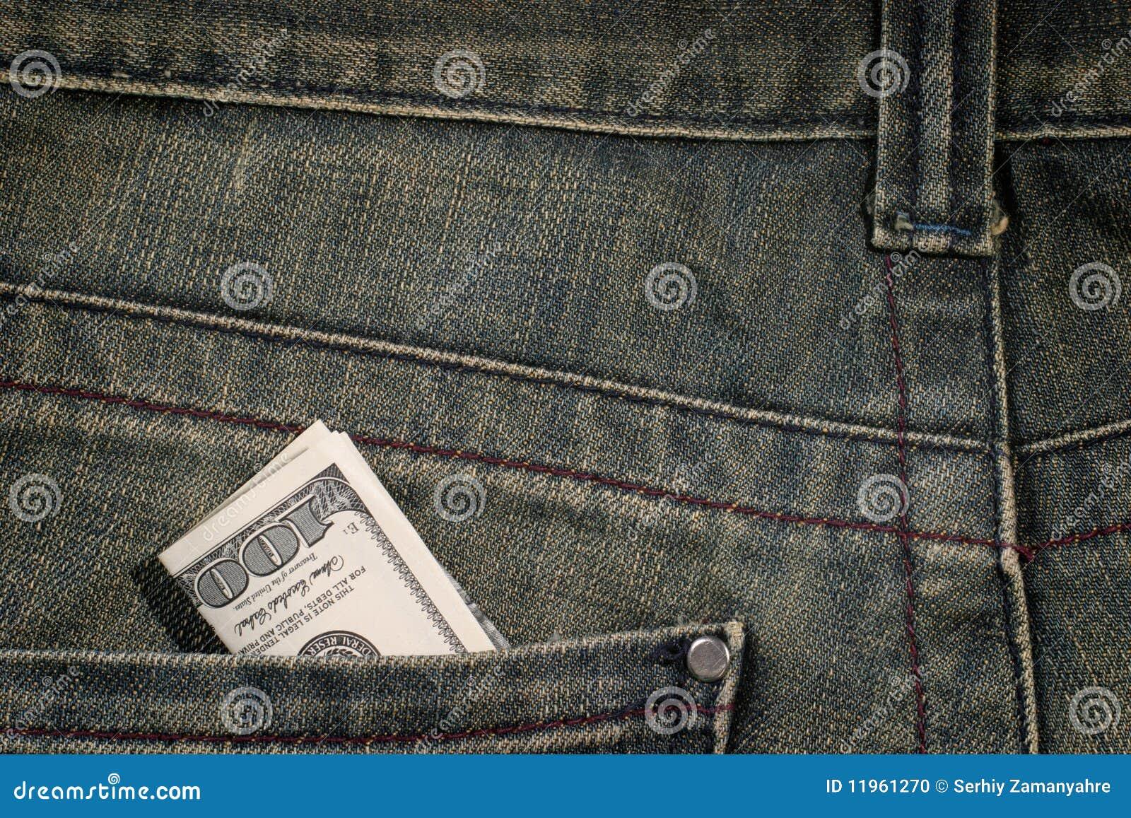 100 dollarrekening in zak
