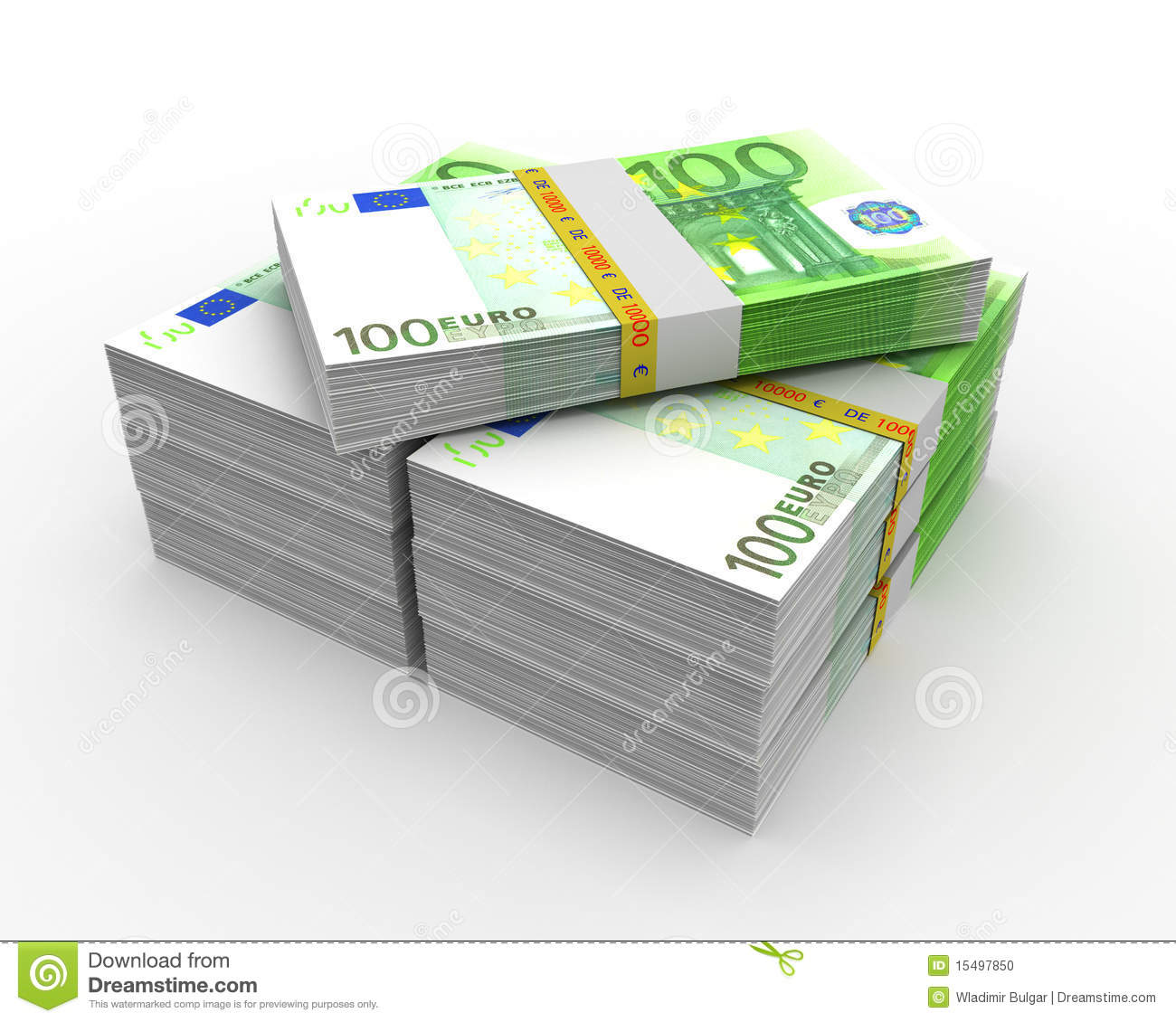 100 euro stock photo image 15497850 for Canape a 100 euros